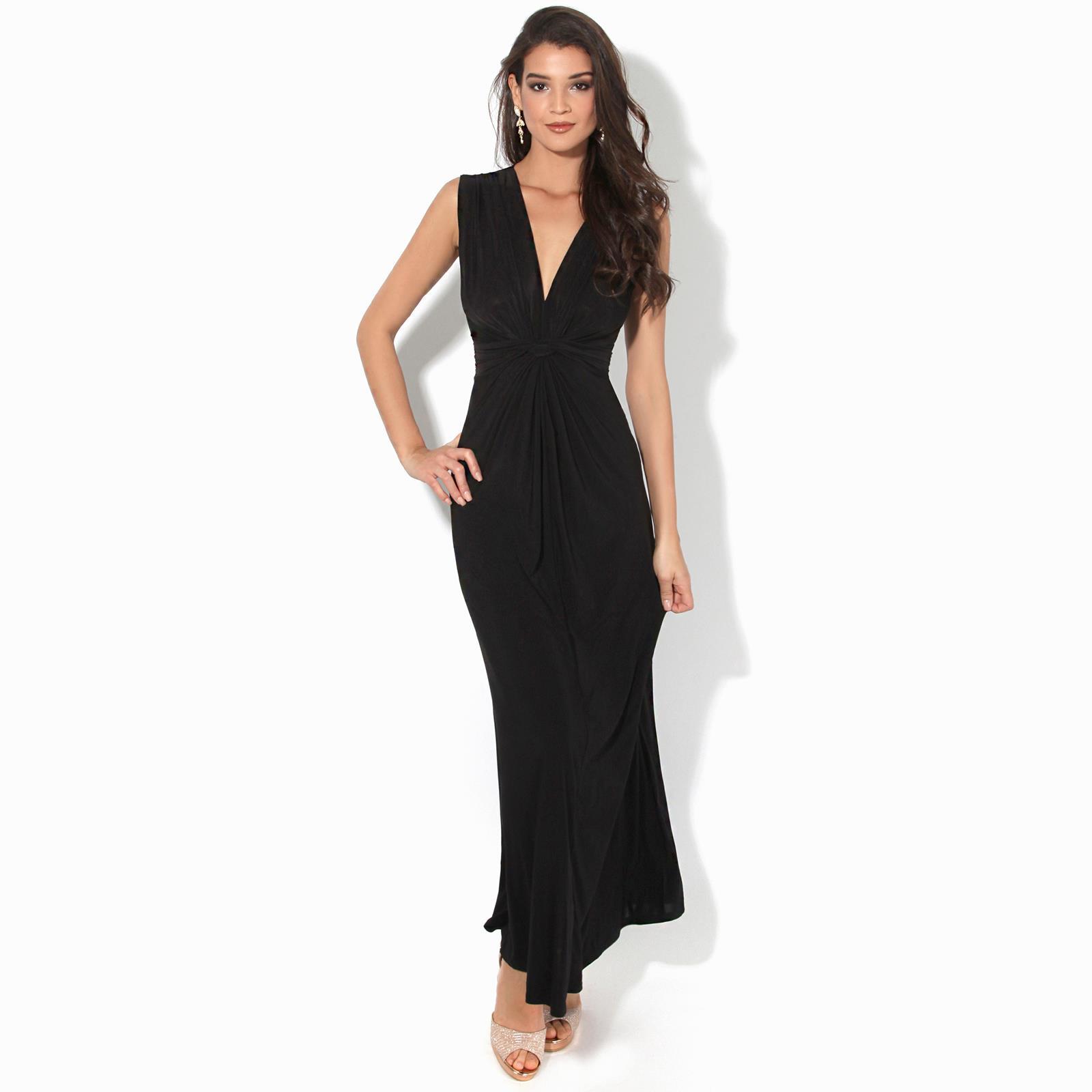 Womens-Ladies-Boho-Long-Maxi-Dress-Knot-V-Neck-Sleeveless-Pleated-Summer-Party thumbnail 5