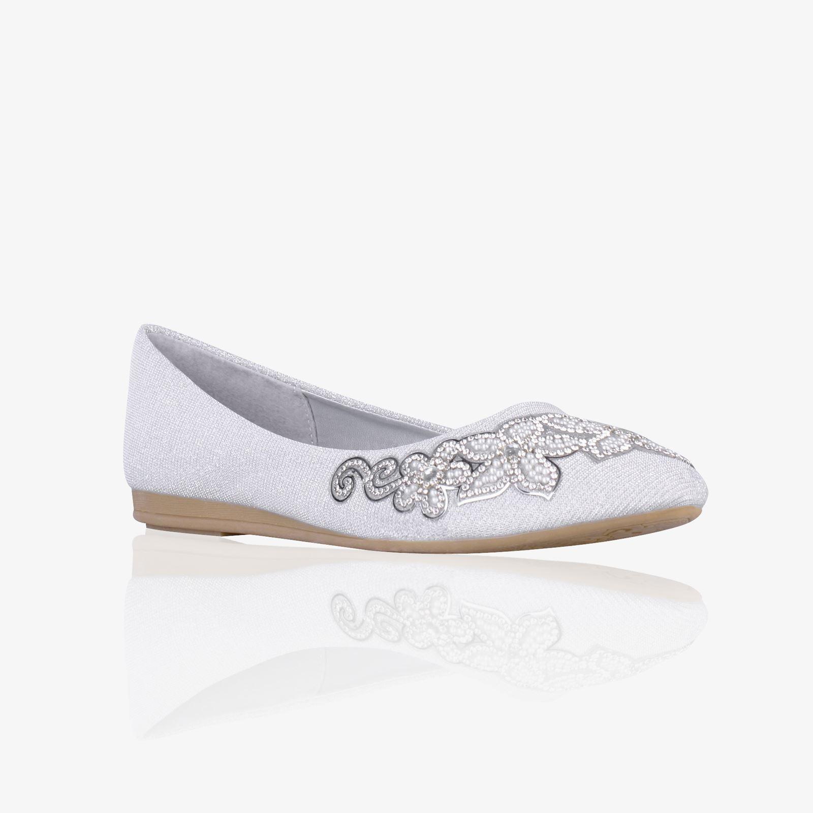 Women Ladies Vintage Pointed Glitter Bridal Ballerina ...