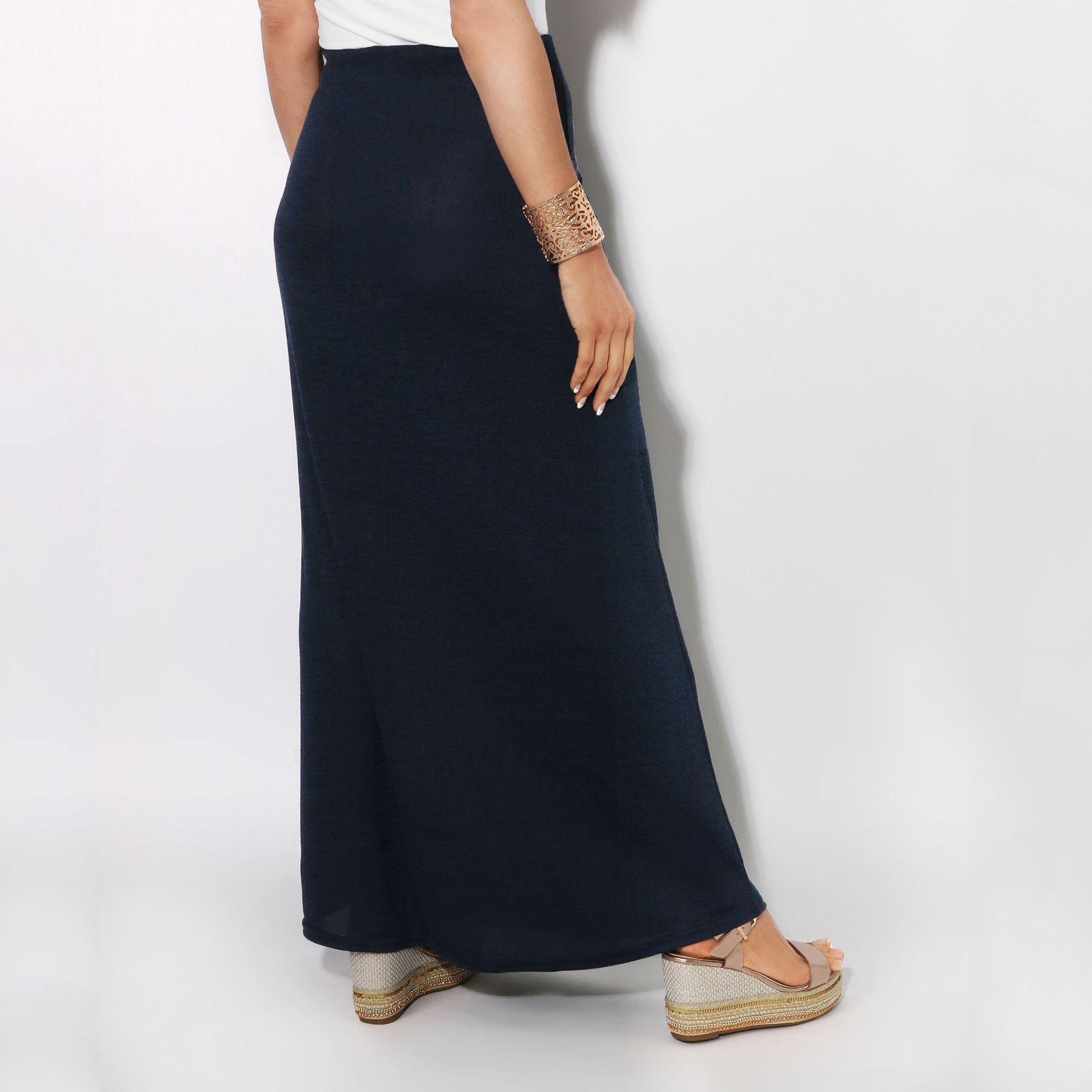 Womens-Ladies-Maxi-Skirt-High-Waist-A-Line-Long-Knit-Stretch-Bodycon-Casual-Boho thumbnail 13