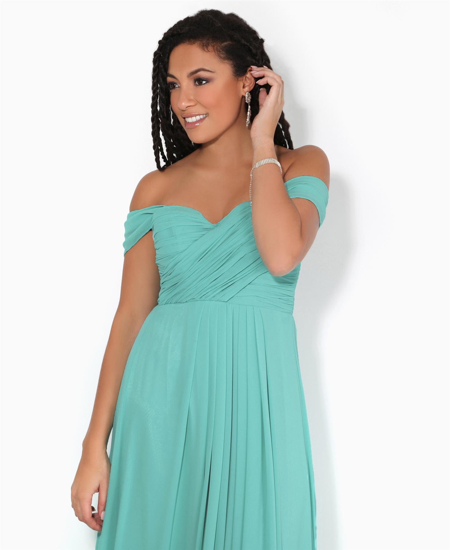 Womens-Formal-Evening-Wedding-Maxi-Prom-Dress-Long-On-Off-Shoulder-Ball-Gown thumbnail 56