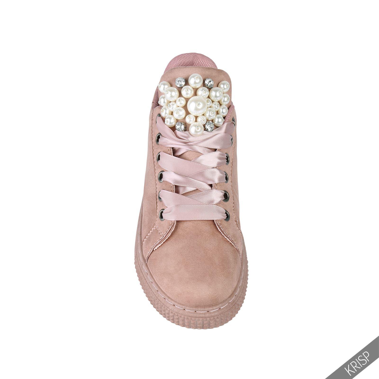Damen flache sneaker bequeme turnschuhe low top geh kelte for Ordnungssystem fa r schuhe