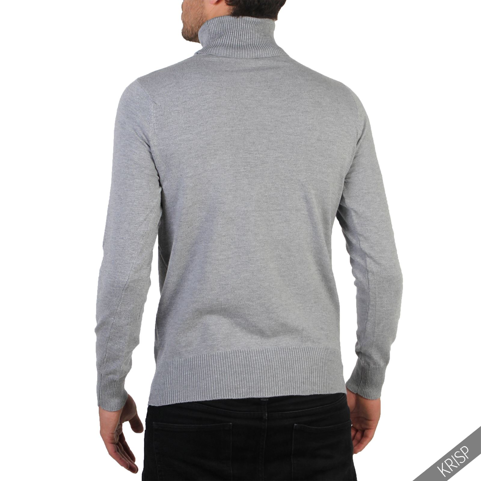 Mens-Turtle-Neck-Roll-Jumper-Sweater-Cotton-Knitwear-Winter-Pullover-Polo-Top thumbnail 13