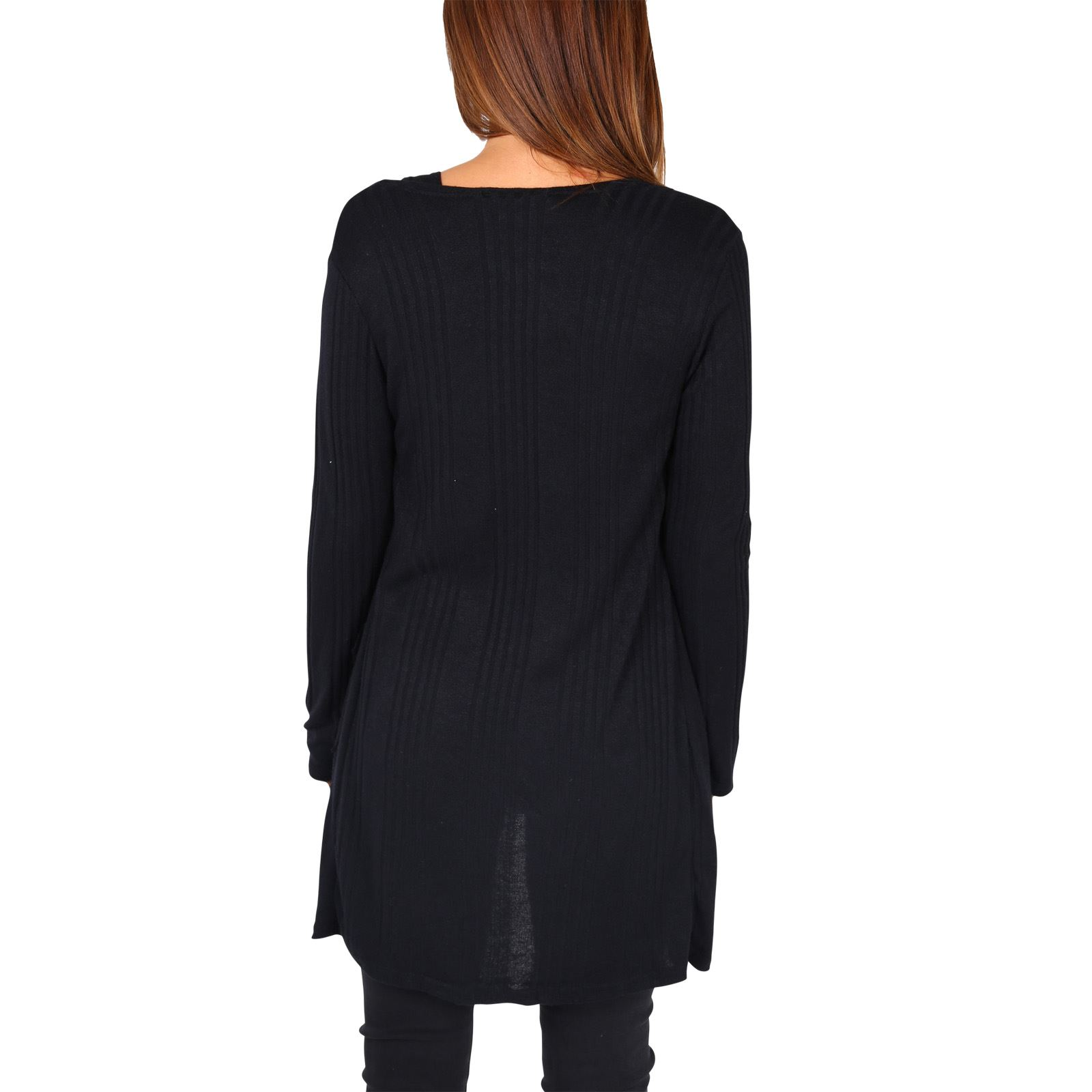 Femmes-Cardigan-Gilet-Long-Manches-Longues-Elegant-Mode-Basique-Casual-Jumper miniature 7