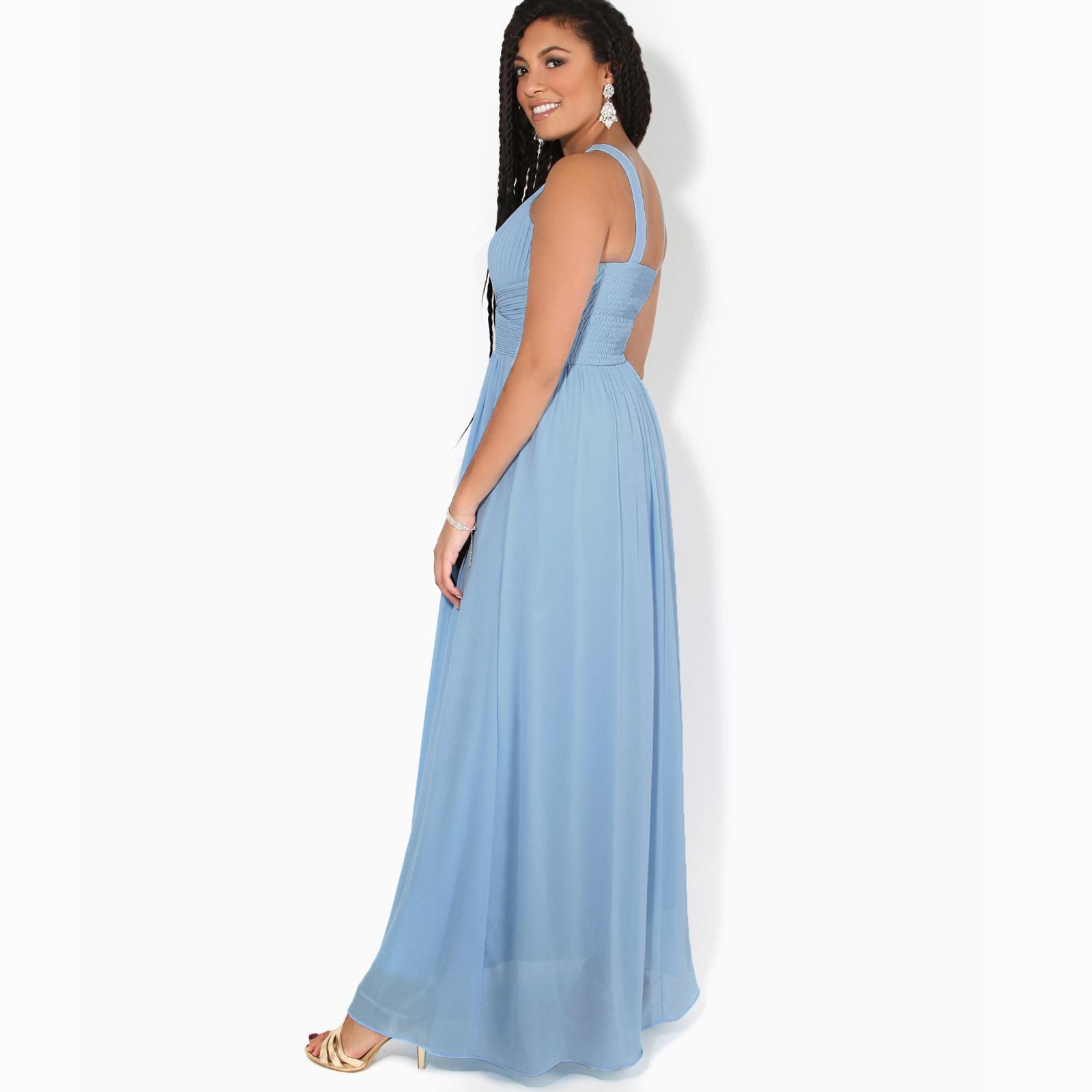 Women-Ladies-Long-Cocktail-Wedding-Bridesmaid-Evening-Maxi-Dress-Formal-Gown thumbnail 4