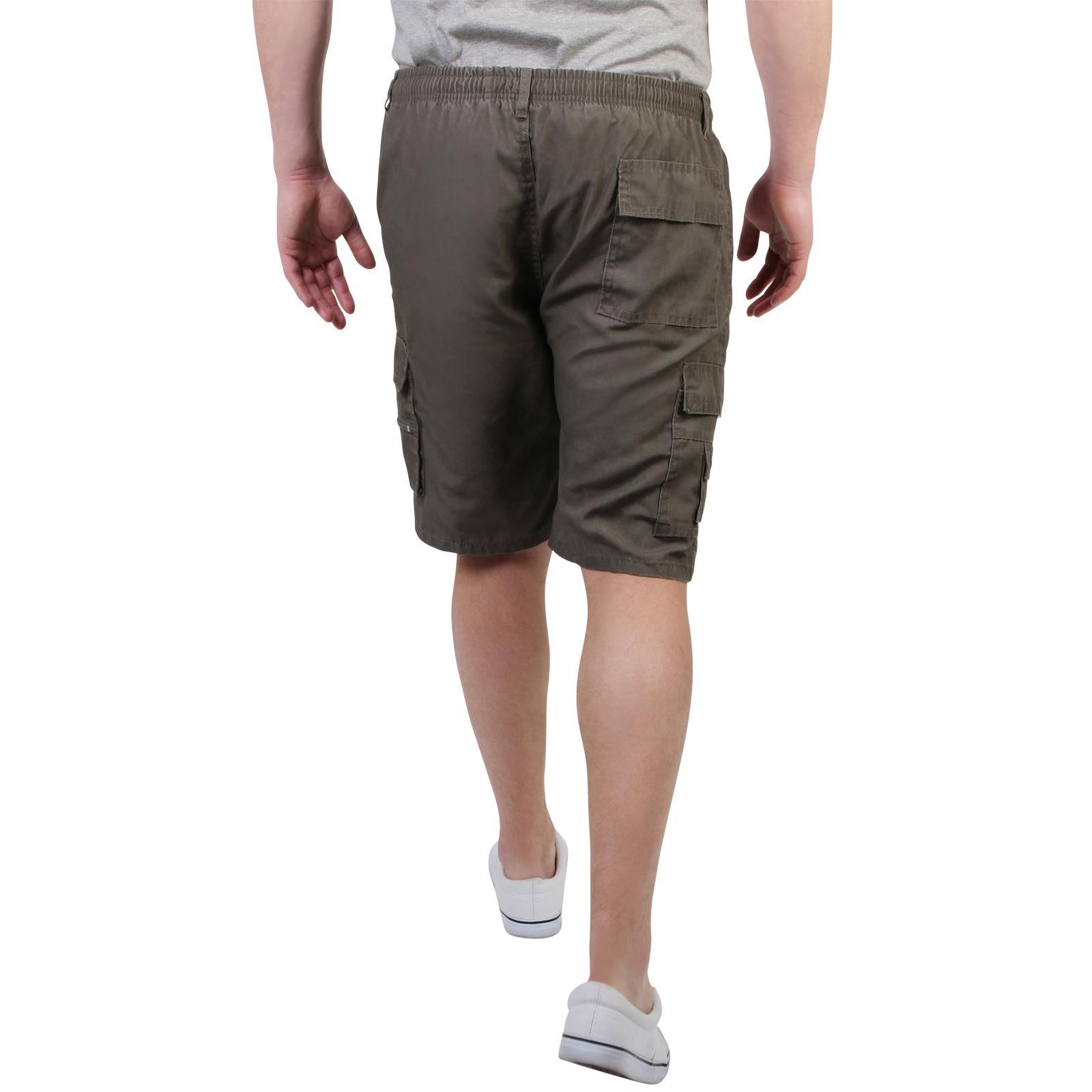 Mens-Cotton-Cargo-Shorts-Plain-Basic-Casual-Work-Chinos-Combat-Pants-Regular thumbnail 18