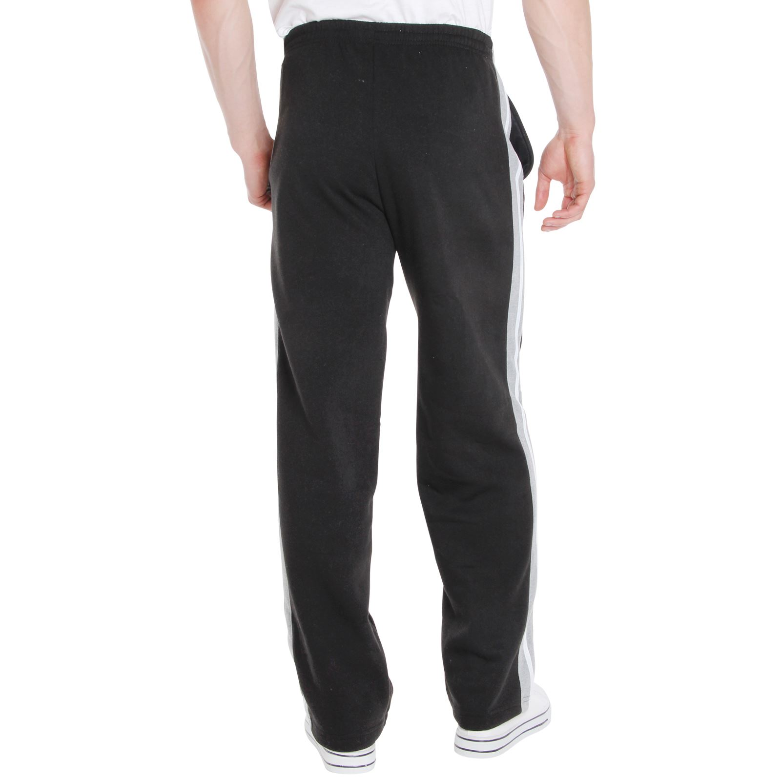 Mens-Tracksuit-Bottoms-Striped-Joggers-Jogging-Trousers-Fleece-Pants-Casual-Work thumbnail 6