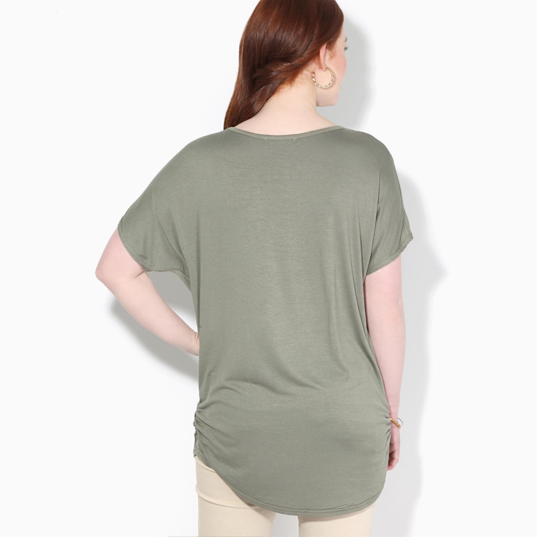 Womens-Loose-Batwing-T-Shirt-Ladies-Animal-Tunic-Blouse-Oversized-Long-Line-Top thumbnail 9