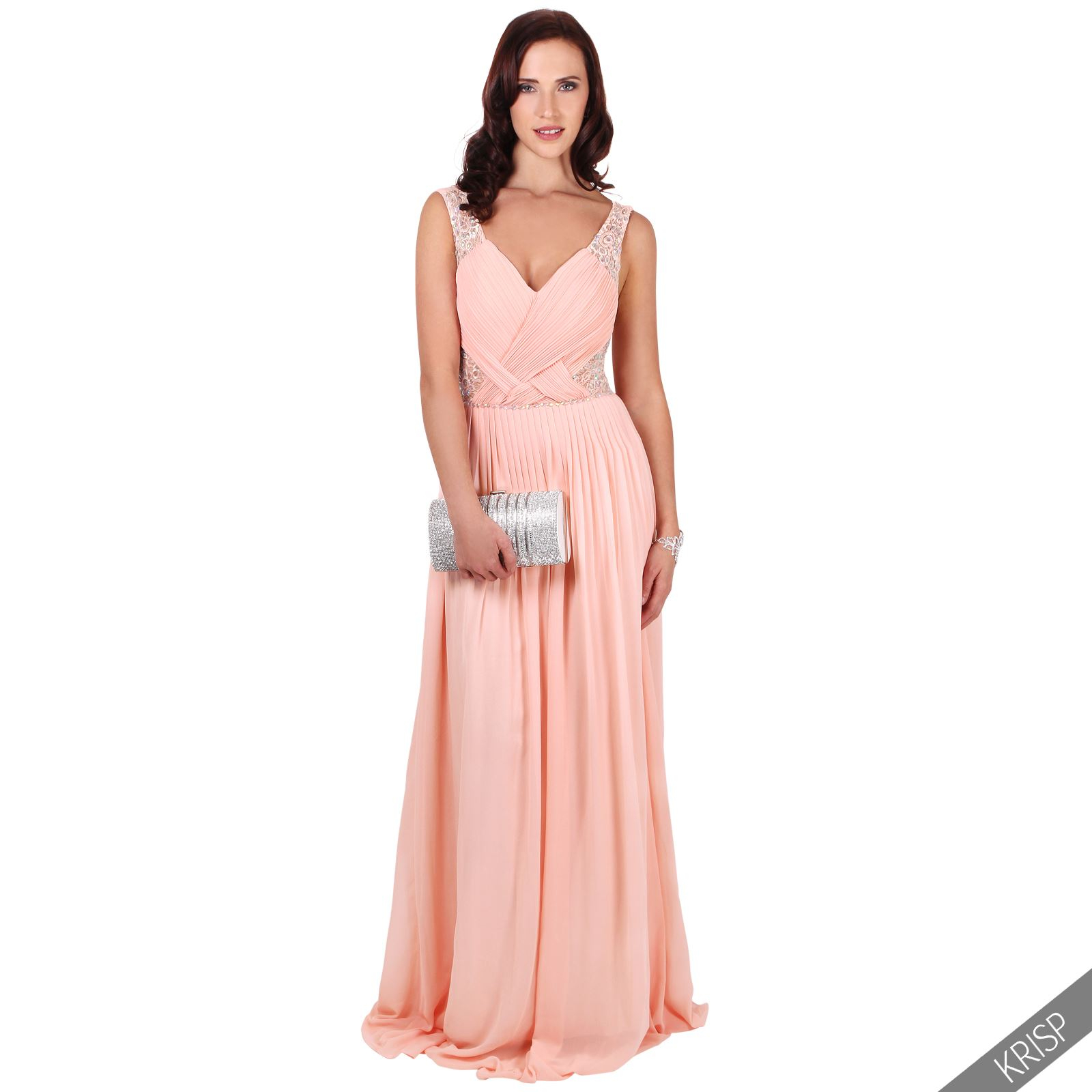 Ladies Long Formal Prom Maxi Dress Evening Ball Gown ...