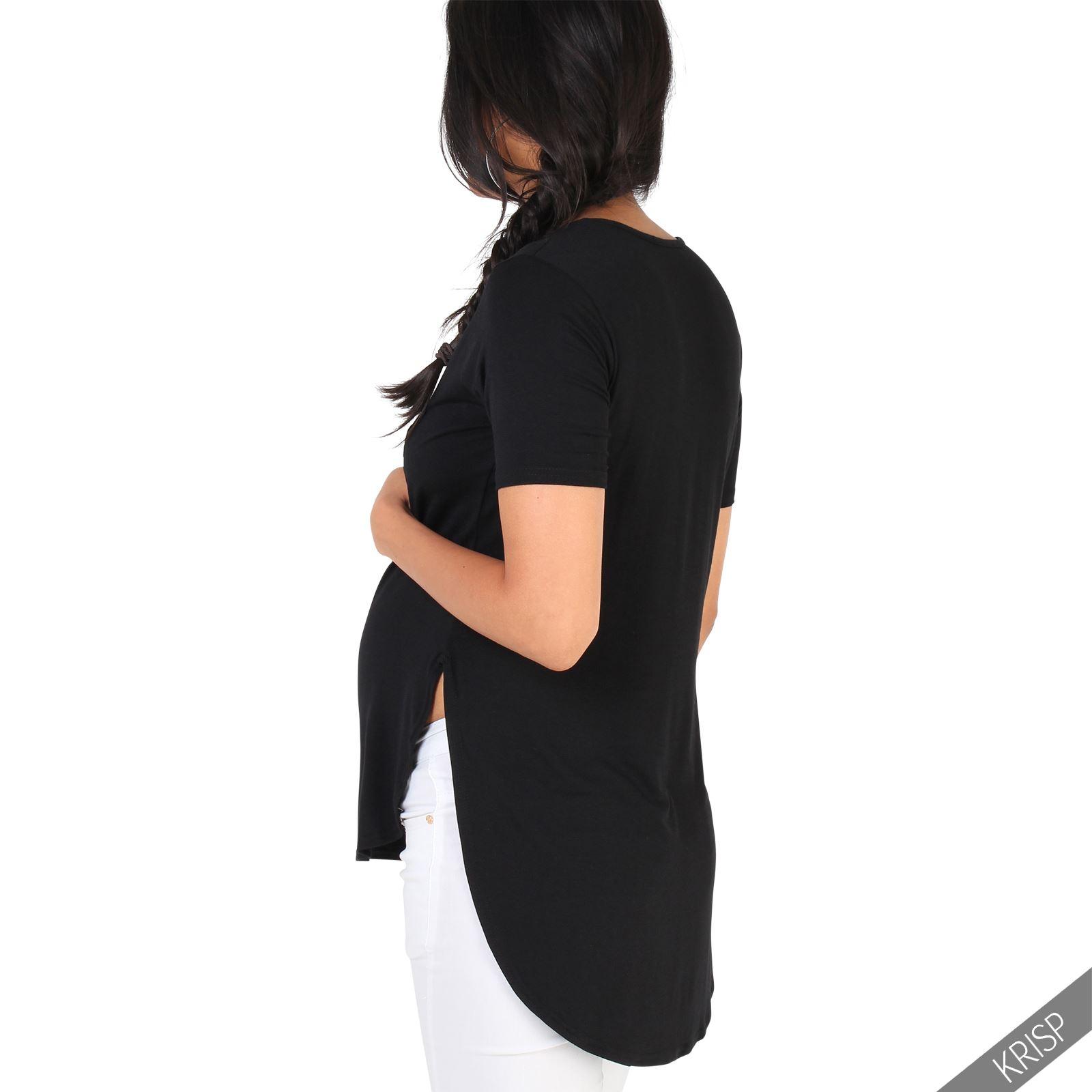bc6914413b3 Camiseta Premamá Top Ancho Asimétrico Ropa Embarazada Moderna Oferta ...