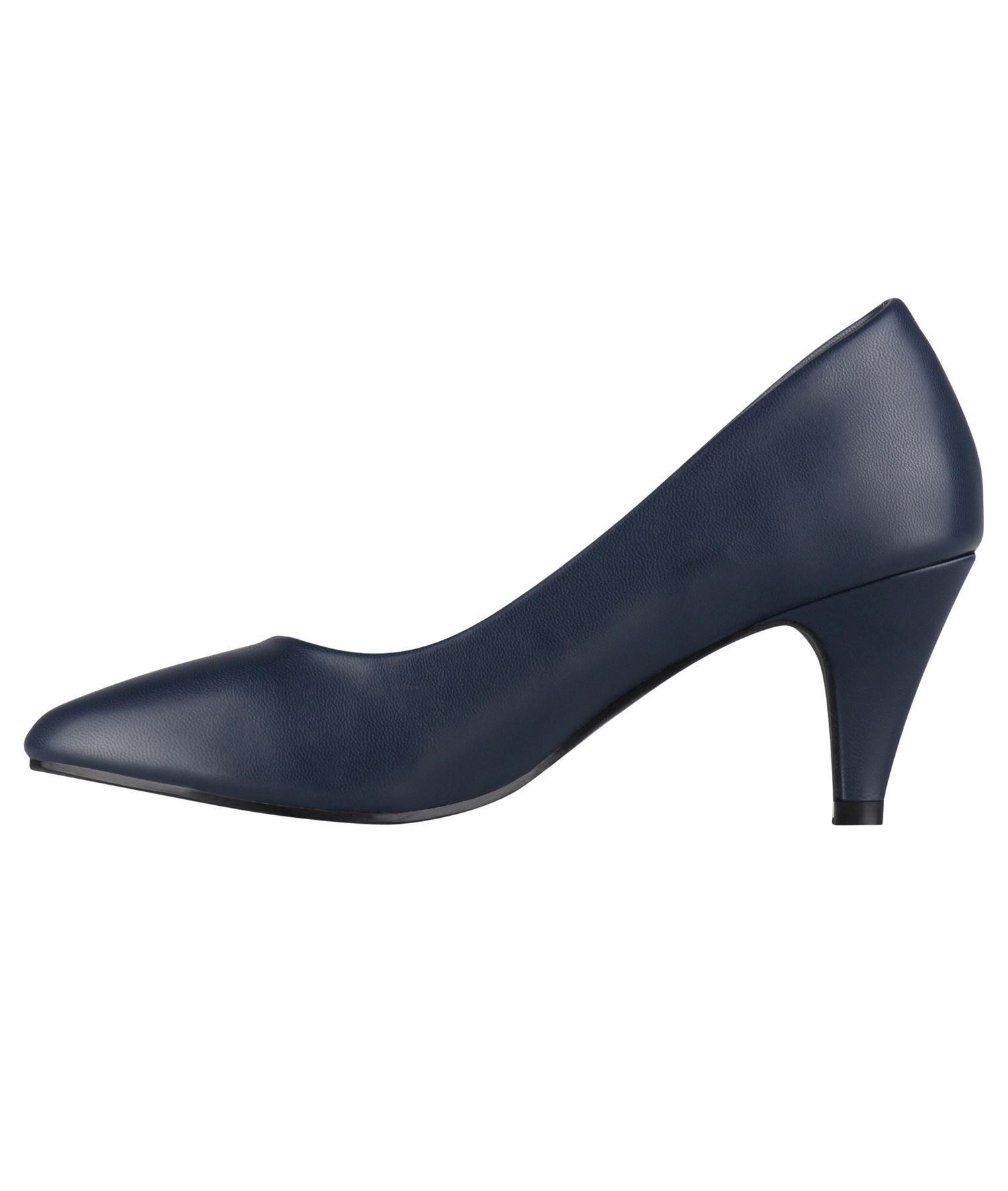 Womens-Ladies-Mid-Heel-Court-Shoes-Slip-On-Low-Kitten-Heels-Pumps-Matte-Size-3-8 thumbnail 16