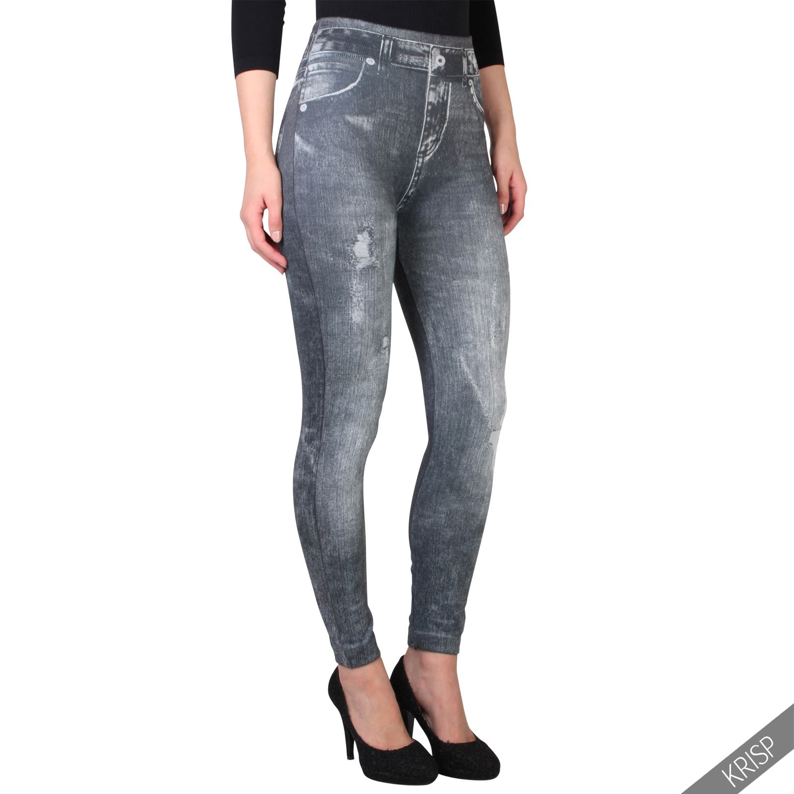 Womens-Warm-Fleece-Lined-Stretch-Denim-Jeans-Thermal-Winter-Leggings-Jeggings thumbnail 2