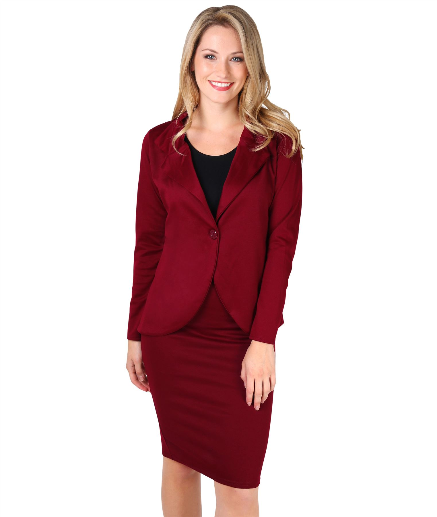 Womens-Ladies-Pencil-Skirt-Midi-Knee-Long-High-Waist-Work-Office-Business-Smart thumbnail 12