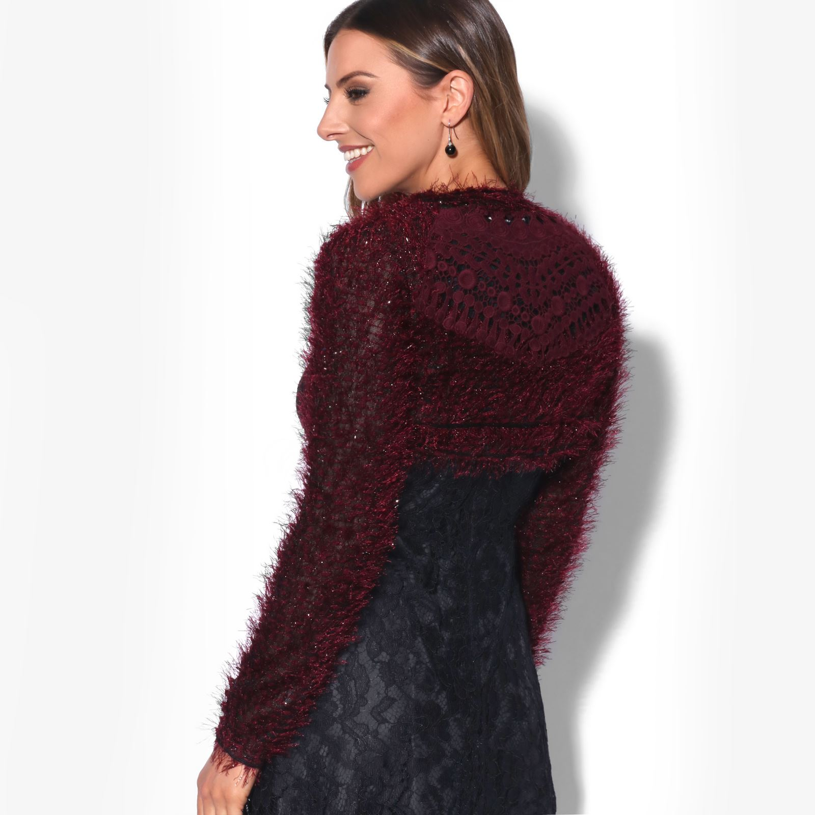 KRISP-Damen-Bolero-Jacke-Kurzes-Jaeckchen-Elegante-Schulterjacke-Blazer-Frauen Indexbild 7