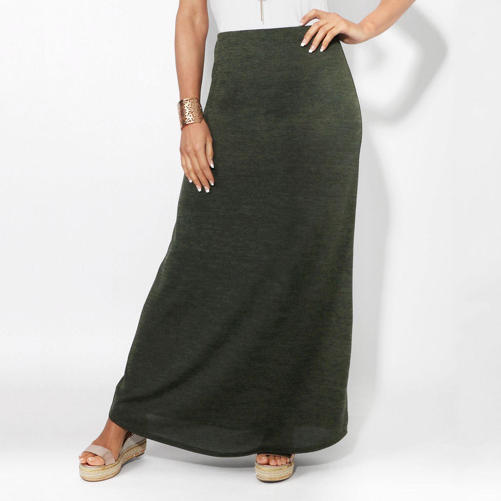 Womens-Ladies-Maxi-Skirt-High-Waist-A-Line-Long-Knit-Stretch-Bodycon-Casual-Boho thumbnail 11