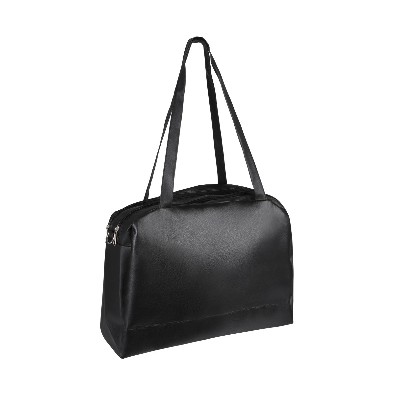 Medium-Handbag-Shoulder-Bowler-Bag-Vegan-Leather-Tote-Shop-Office-Work-Fashion thumbnail 4