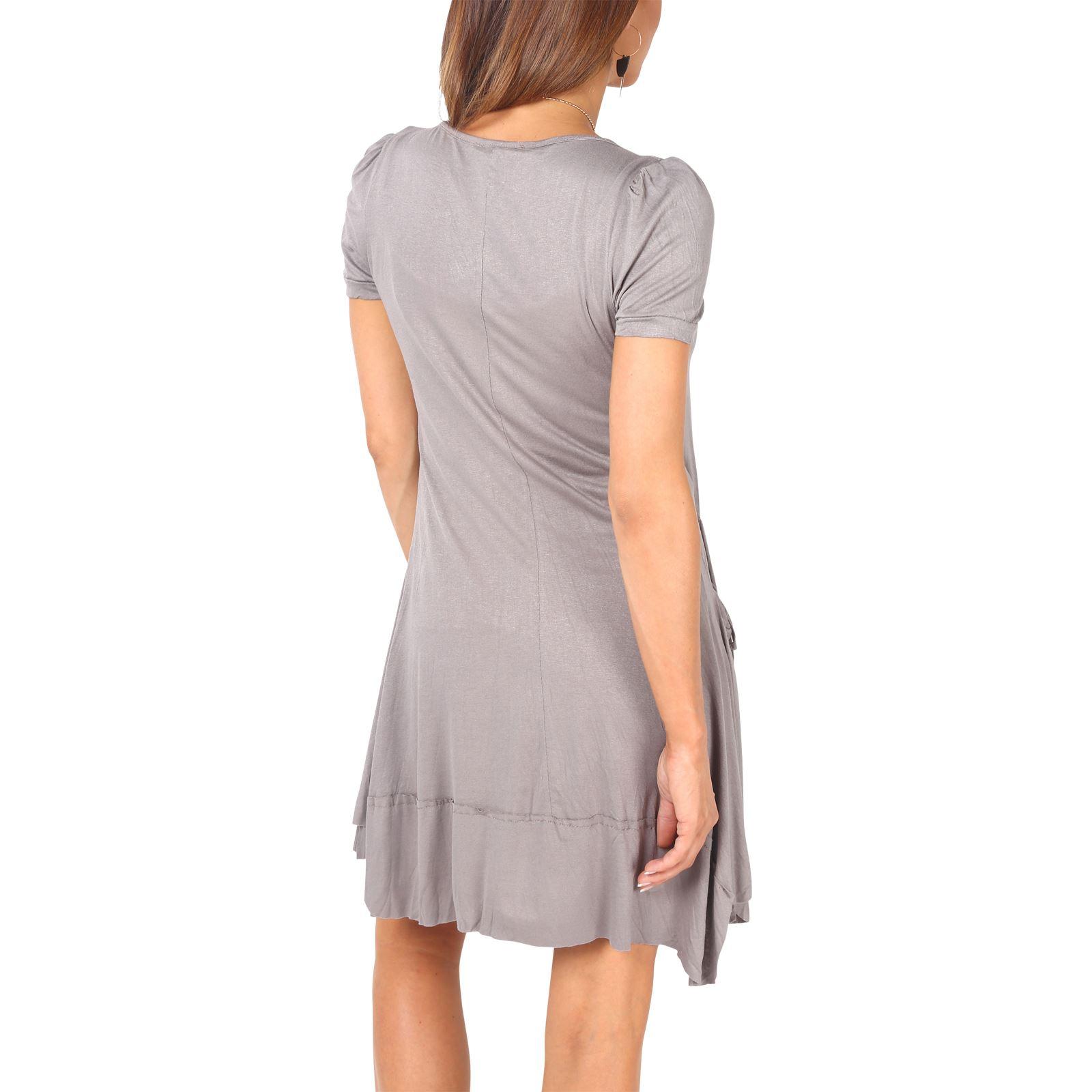 KRISP-Women-2-in-1-Boho-Gypsy-Tunic-Dress-Top-Tee-Jersey-Pleated-A-Line-Necklace thumbnail 16
