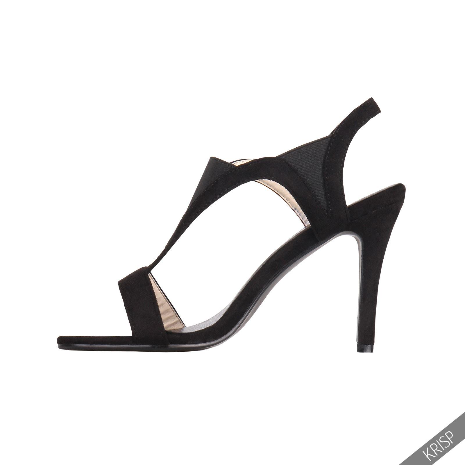 Femmes-Escarpins-Sandales-Chaussures-Talon-Aiguille-Suede-Daim-Soirees-Fetes
