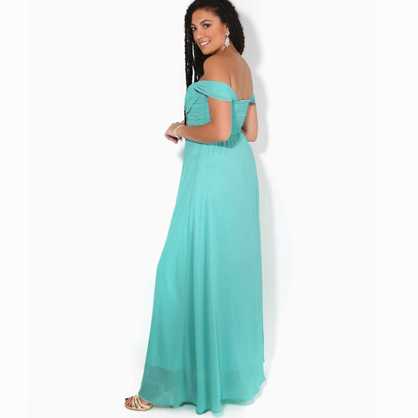 Womens-Formal-Evening-Wedding-Maxi-Prom-Dress-Long-On-Off-Shoulder-Ball-Gown thumbnail 57