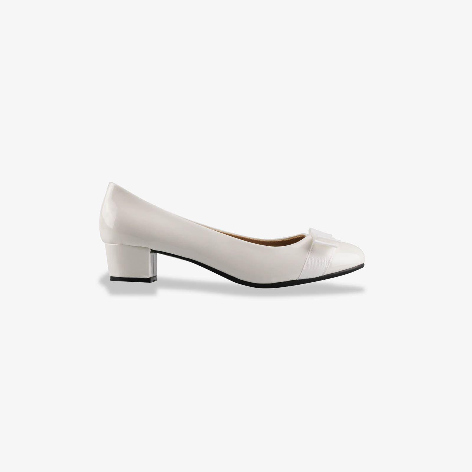 Damen-Elegante-Absatzschuhe-Hochlganz-Pumps-Blockabsatz-Ballerina-Schuhe-Chic Indexbild 28