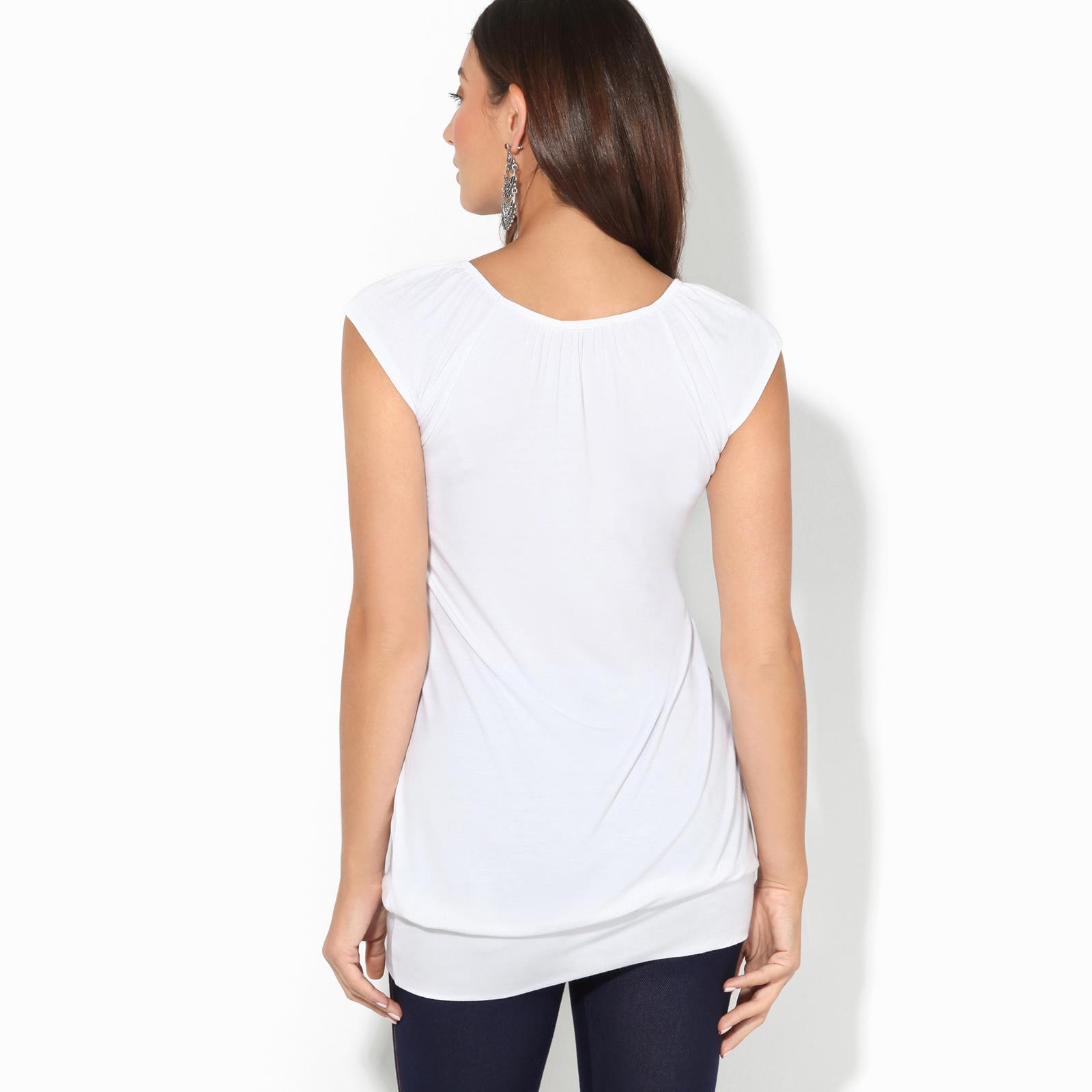 Womens-Ladies-Scoop-Neck-Blouse-V-T-Shirt-Long-Short-Sleeve-Plain-Loose-Top thumbnail 51