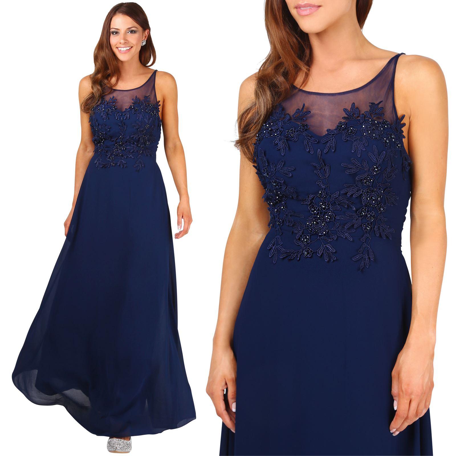 dd75bd384 Boda Verano Mujer Noche Gasa Largo 17 Vestido Ceremonia Azul Fiesta wXF1Hz