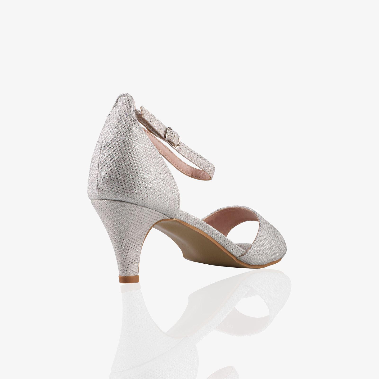 Women-Ladies-Low-Kitten-Heel-Court-Shoes-Open-Toe-Glitter-Sandals-Party-Bridal thumbnail 19