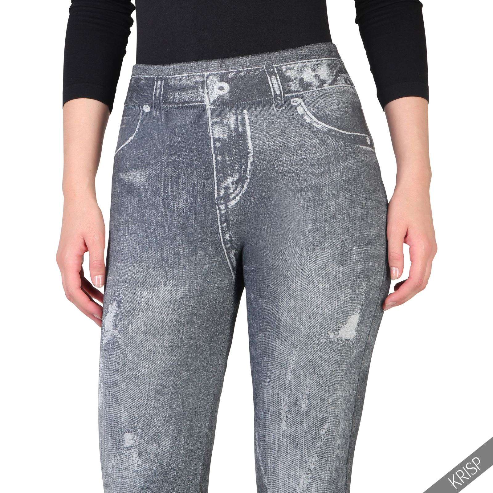 Womens-Warm-Fleece-Lined-Stretch-Denim-Jeans-Thermal-Winter-Leggings-Jeggings thumbnail 4