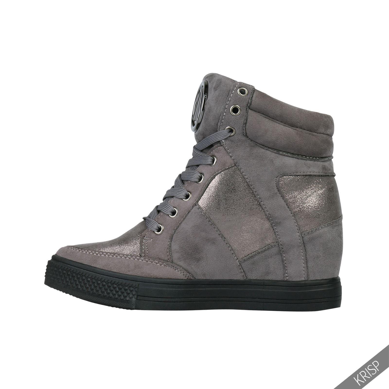 202d8f7800 Schuhe & Handtaschen KRISP Damen Schuhe Keilabsatz Turnschuhe Verschiedene  Varianten Schuhe