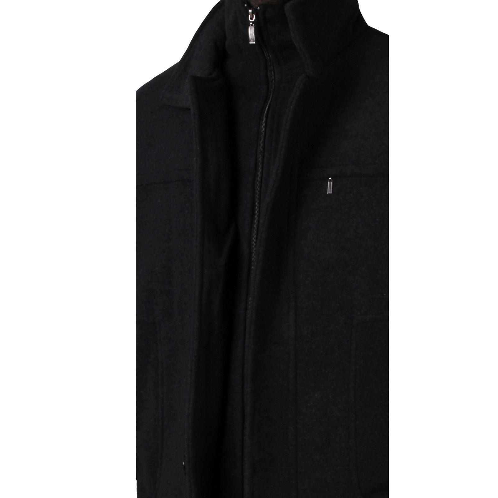 Hommes-Manteau-Veste-Chaude-Doudoune-Trench-Coat-Mac-Jacket-Blouson-Laine-Hiver