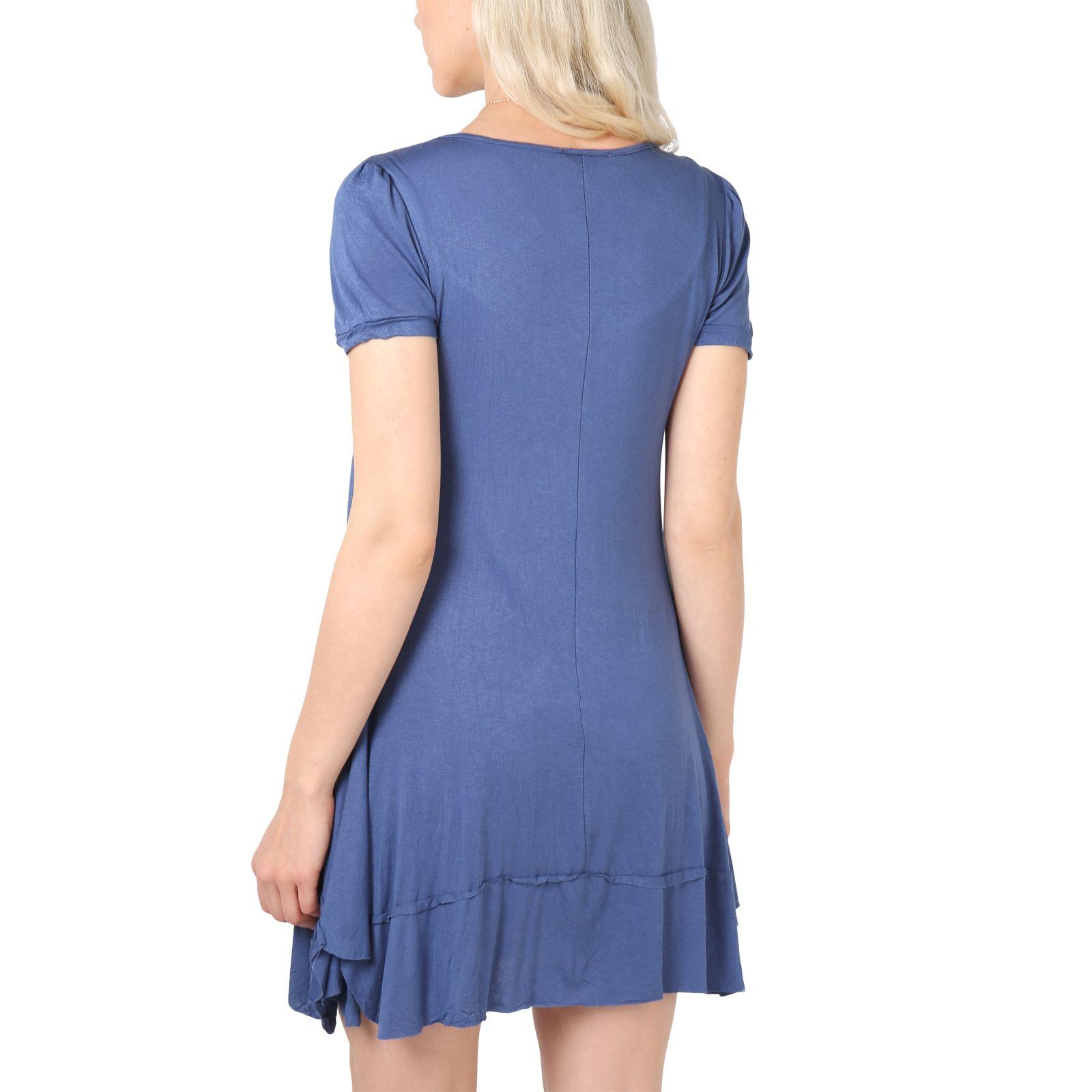KRISP-Women-2-in-1-Boho-Gypsy-Tunic-Dress-Top-Tee-Jersey-Pleated-A-Line-Necklace thumbnail 10