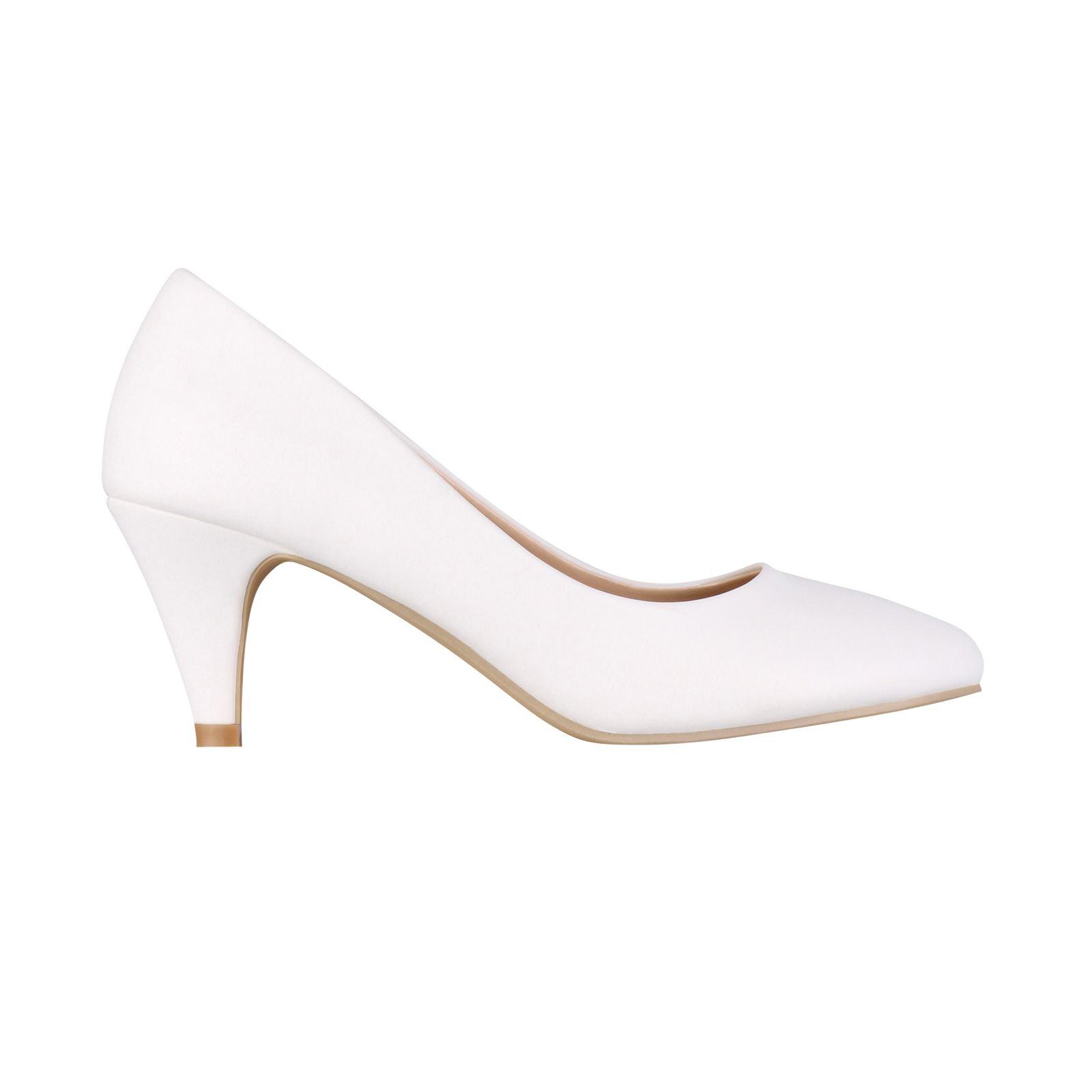 Womens-Ladies-Mid-Heel-Court-Shoes-Slip-On-Low-Kitten-Heels-Pumps-Matte-Size-3-8 thumbnail 23