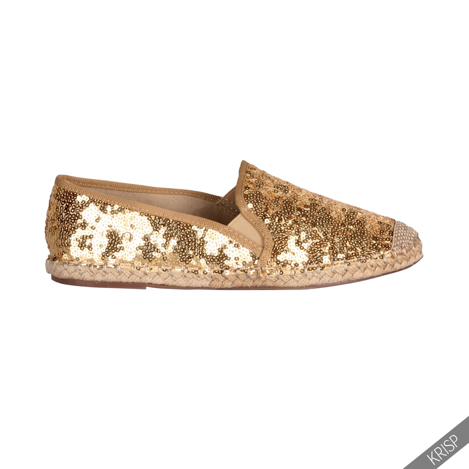 womens glitter lace espadrilles shoes holiday pumps casual comfort loafers size ebay. Black Bedroom Furniture Sets. Home Design Ideas