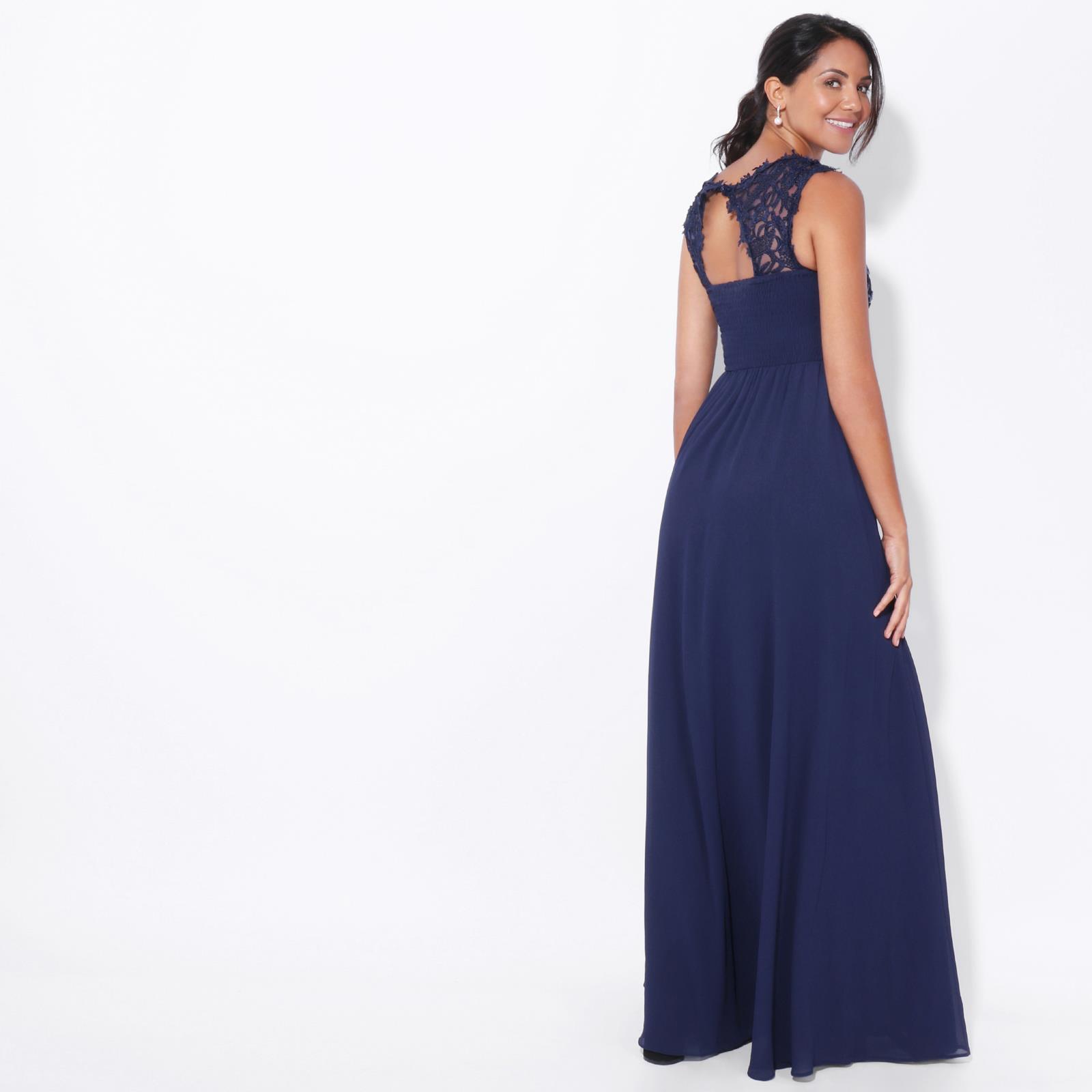 Womens-Wedding-Bridesmaid-Prom-Dress-Formal-One-Off-Shoulder-Long-Evening-8-18 thumbnail 41