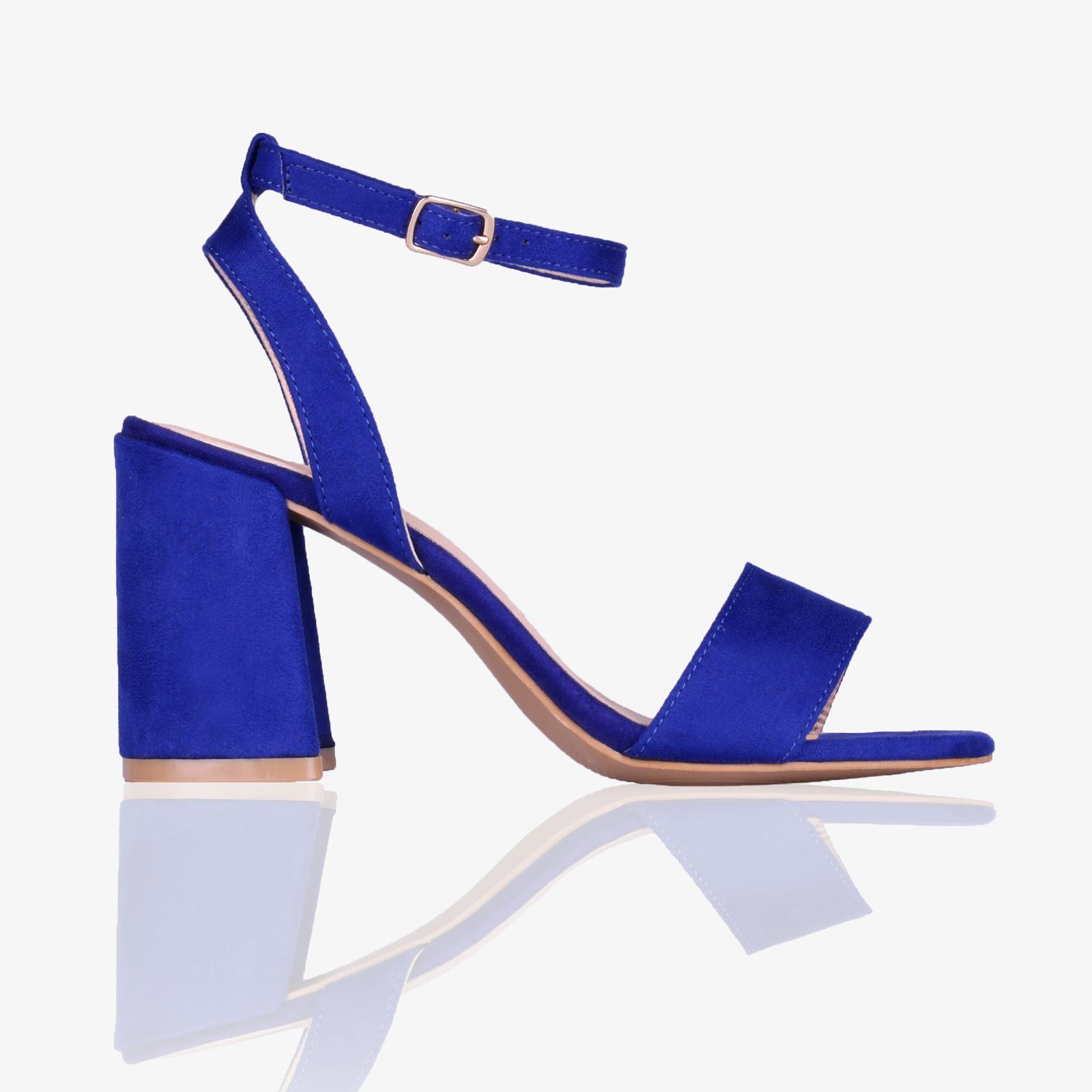 e8c35e8e187 Womans Ladies Satin Ankle Wrap Mid Block Heel Open Toe Sandals ...