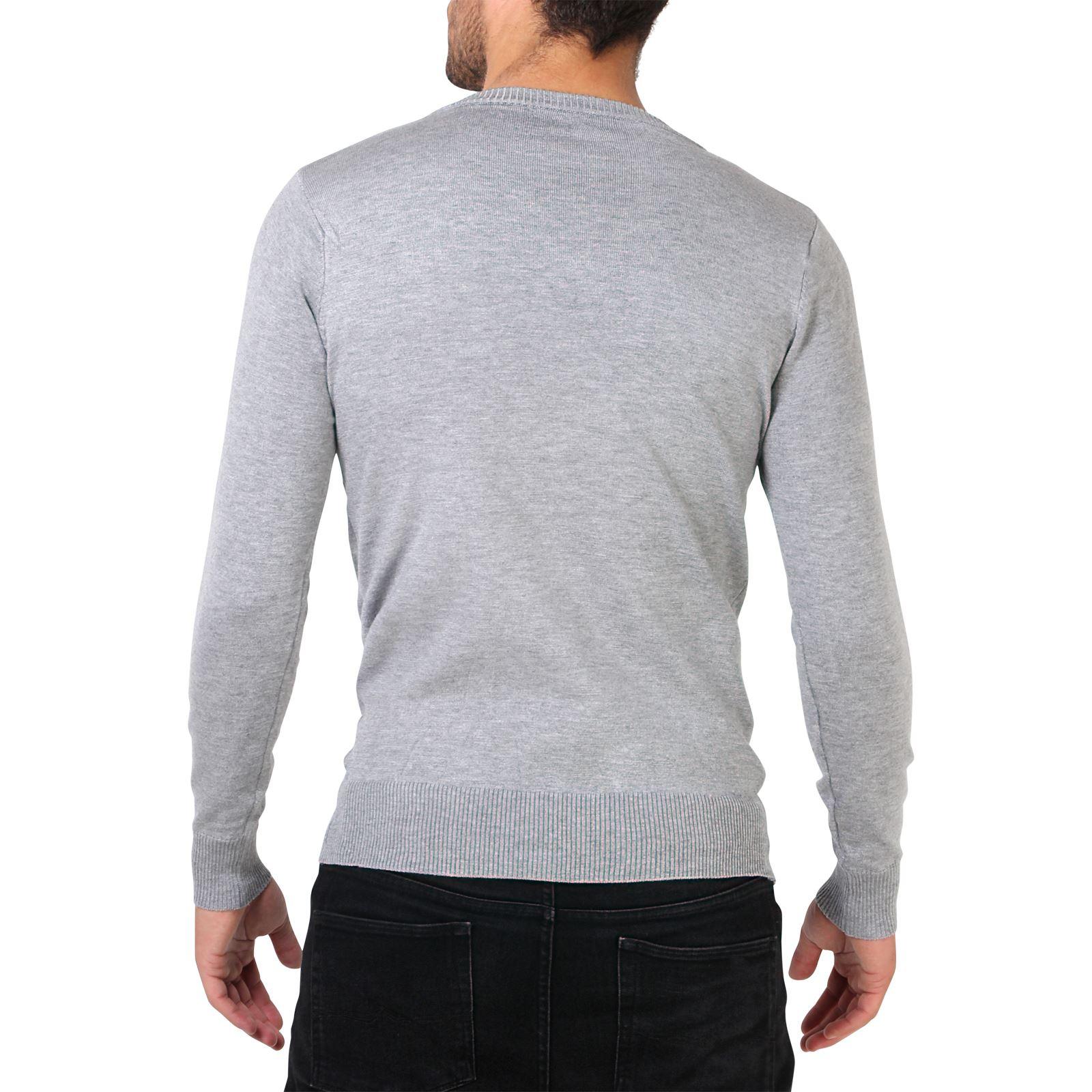 376925bb2110 Mens Soft Cotton Knit Plain V Neck Fashion Jumper Knitwear Sweater ...