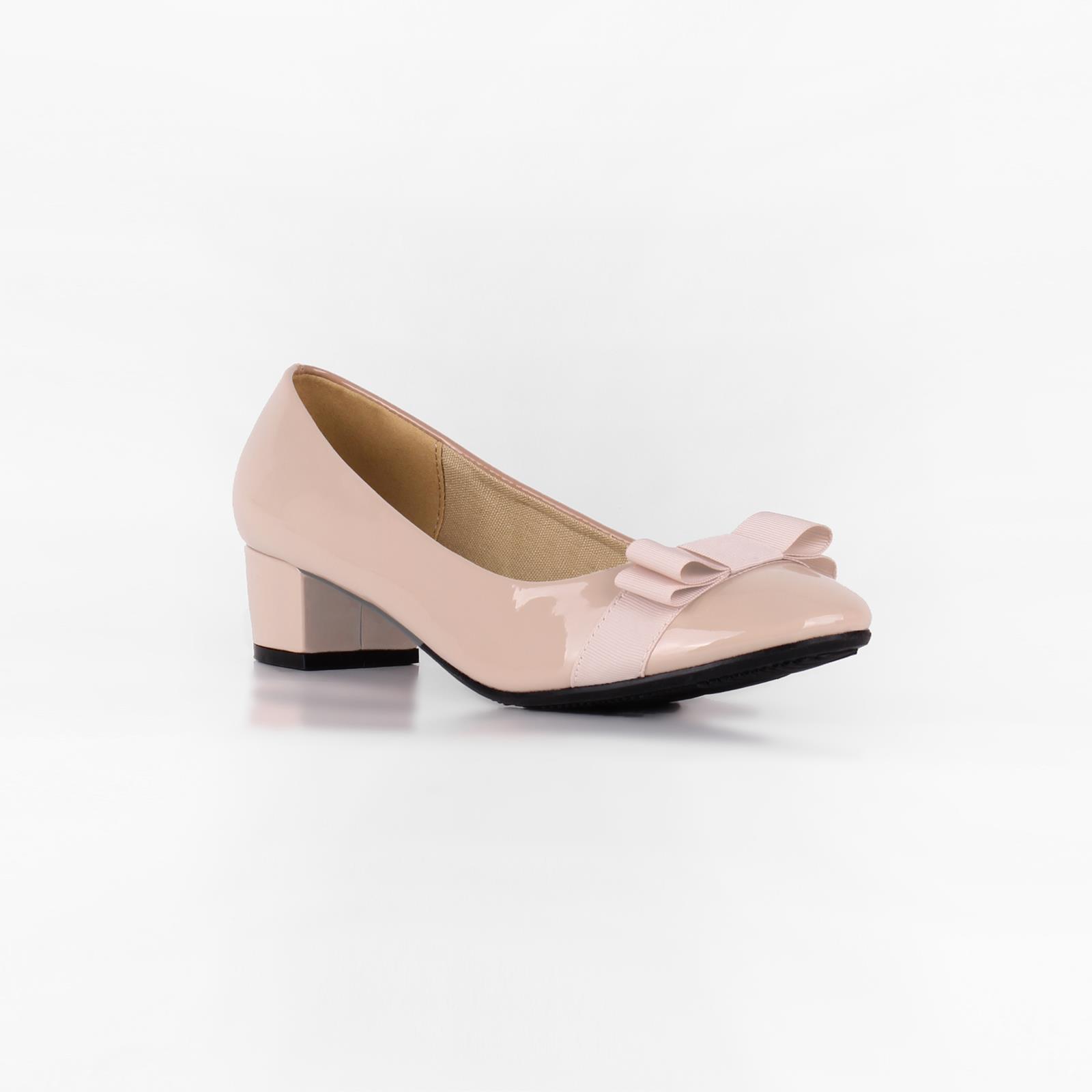 Damen-Elegante-Absatzschuhe-Hochlganz-Pumps-Blockabsatz-Ballerina-Schuhe-Chic Indexbild 33