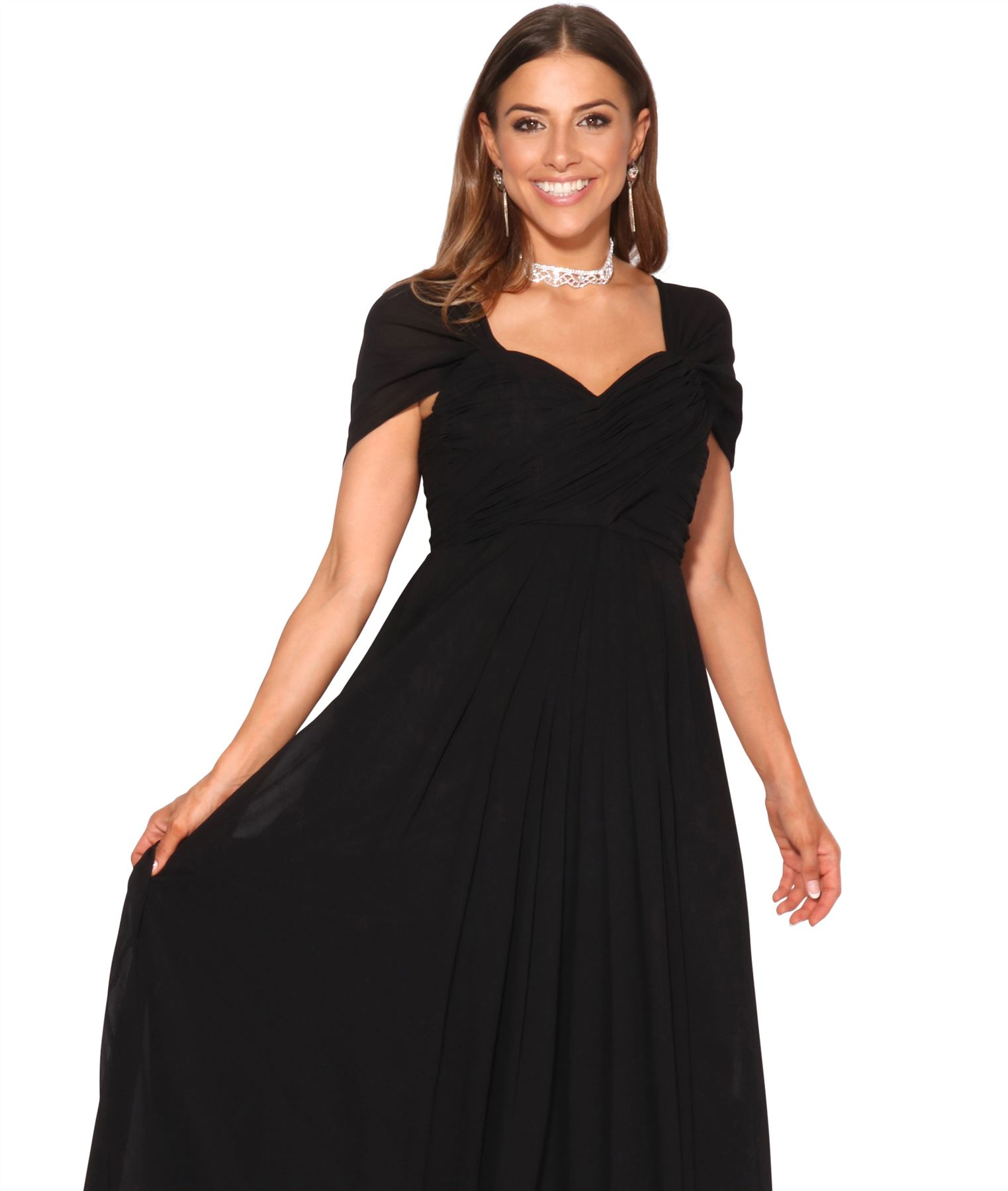 Womens-Formal-Evening-Wedding-Maxi-Prom-Dress-Long-On-Off-Shoulder-Ball-Gown thumbnail 13