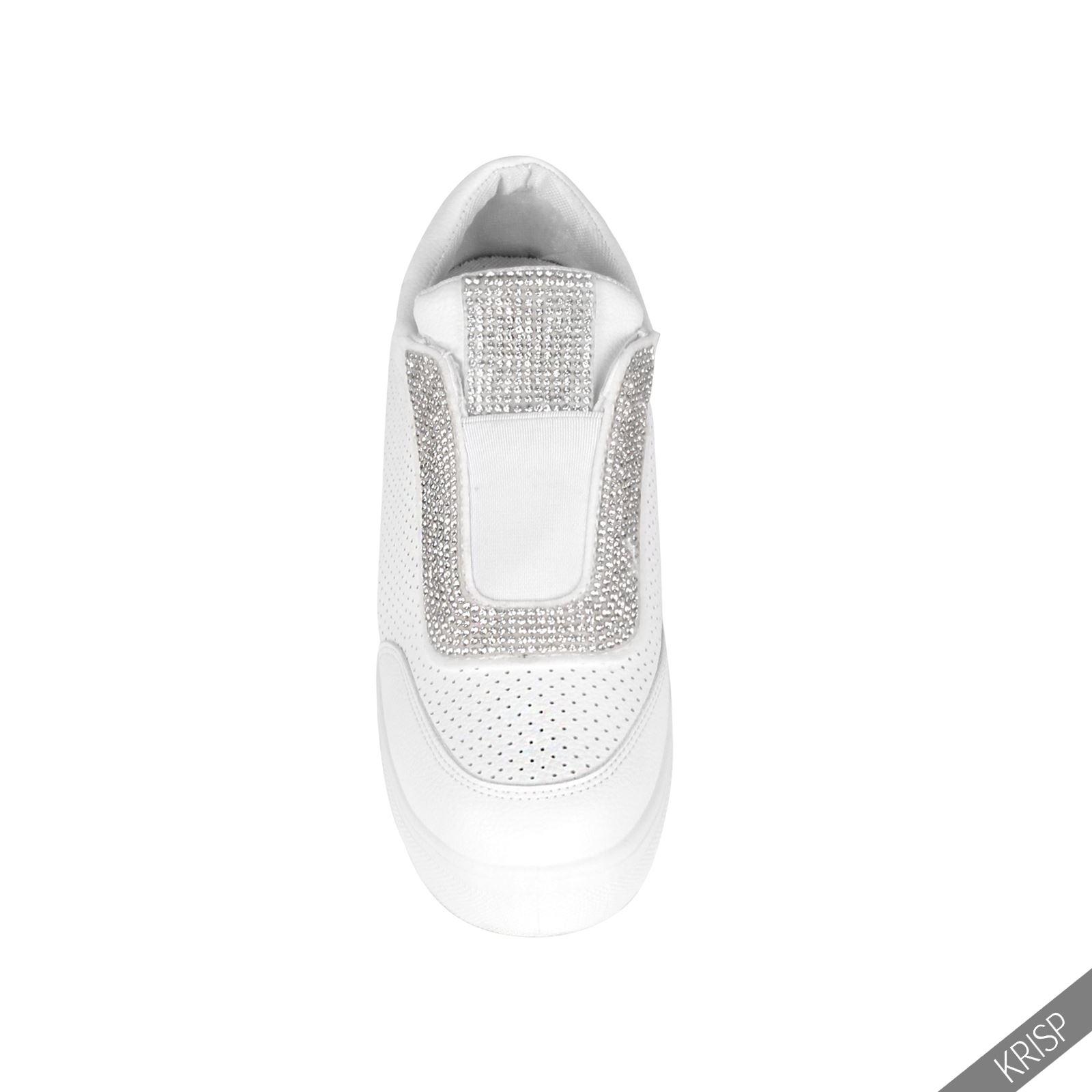 damen keilabsatz slip on sneaker mit absatz schuhe sommer wedge high heels. Black Bedroom Furniture Sets. Home Design Ideas