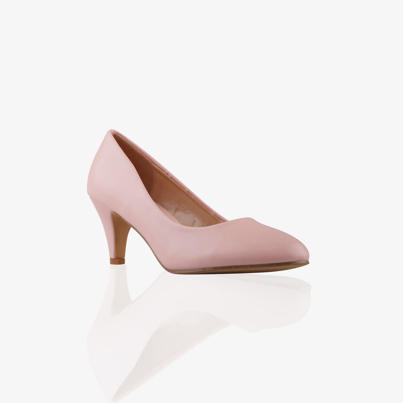 Womens-Ladies-Mid-Heel-Court-Shoes-Slip-On-Low-Kitten-Heels-Pumps-Matte-Size-3-8 thumbnail 18