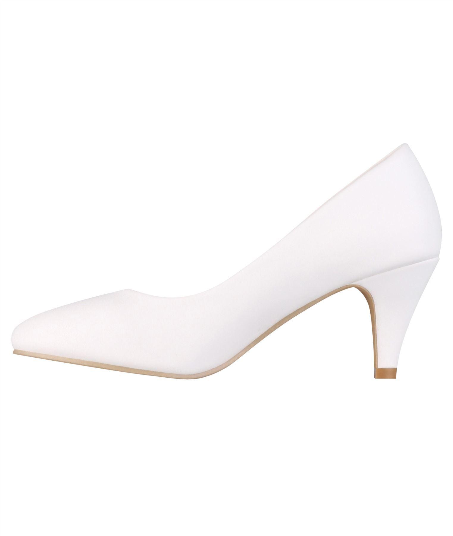 Womens-Ladies-Mid-Heel-Court-Shoes-Slip-On-Low-Kitten-Heels-Pumps-Matte-Size-3-8 thumbnail 26