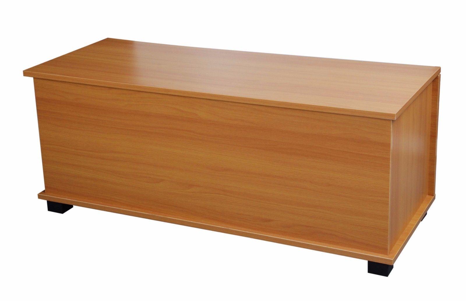 New bleach wooden ottoman toy storage chest trunk
