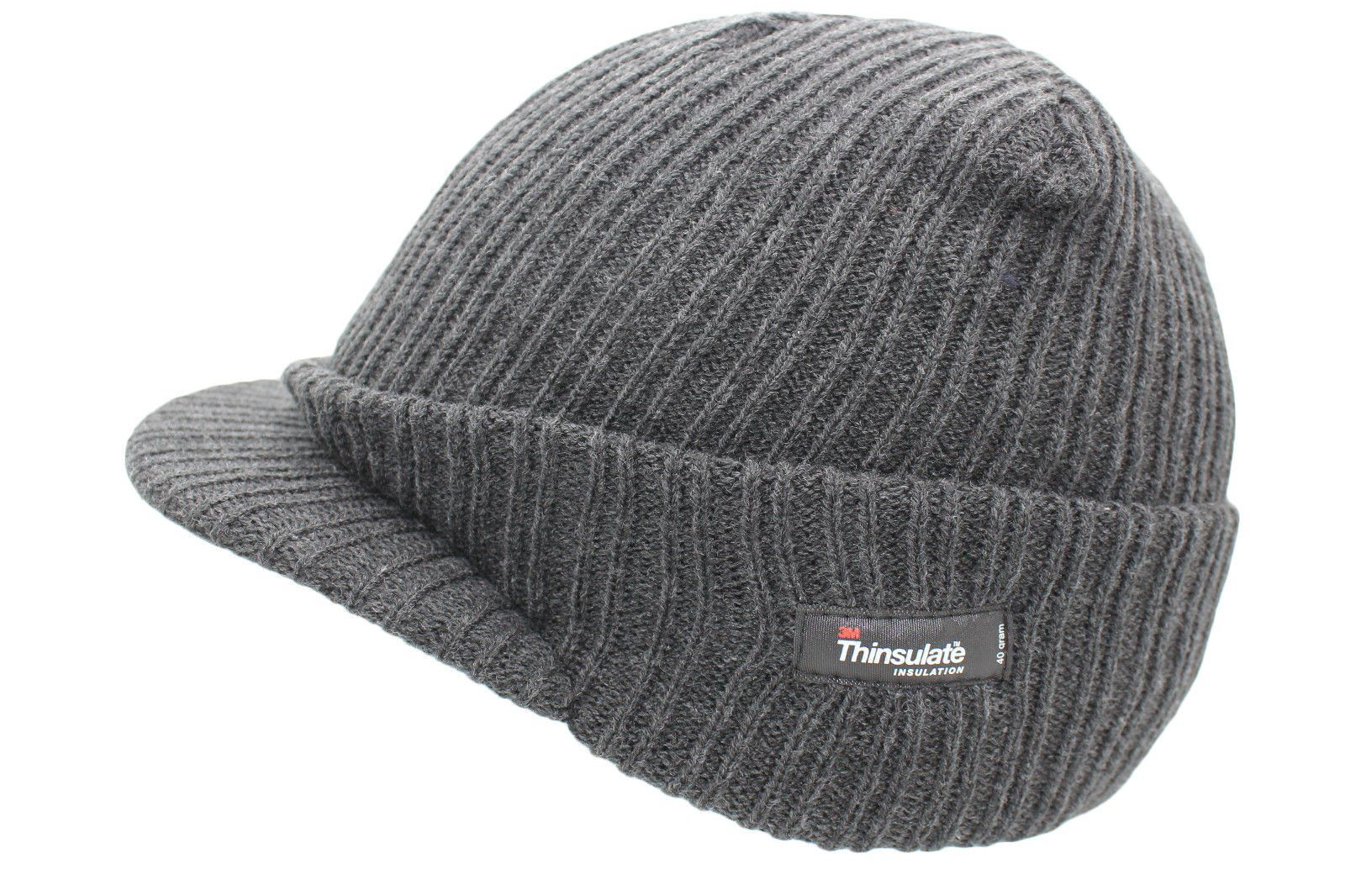 NEW UNISEX MENS AND LADIES PEAKED BEANIE THINSULATE THERMAL HAT c1270257c70