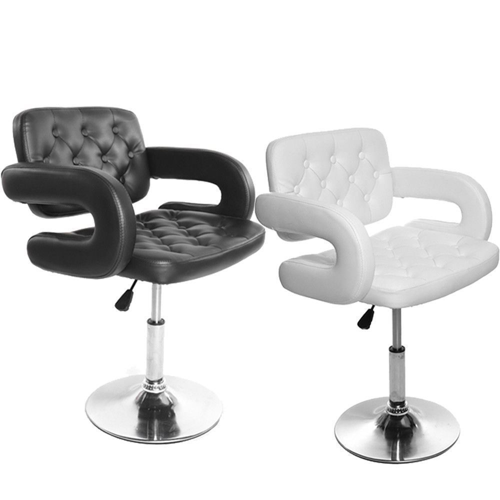 Brilliant Details About White Or Black Pu Leather Hair Salon Chair Barber Hairdressing Kitchen Bar Stool Dailytribune Chair Design For Home Dailytribuneorg