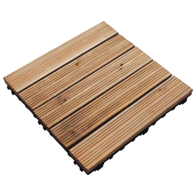 Details About 9 Wooden Garden Decking Outdoor Tiles Anti Slip Paving Patio Floor