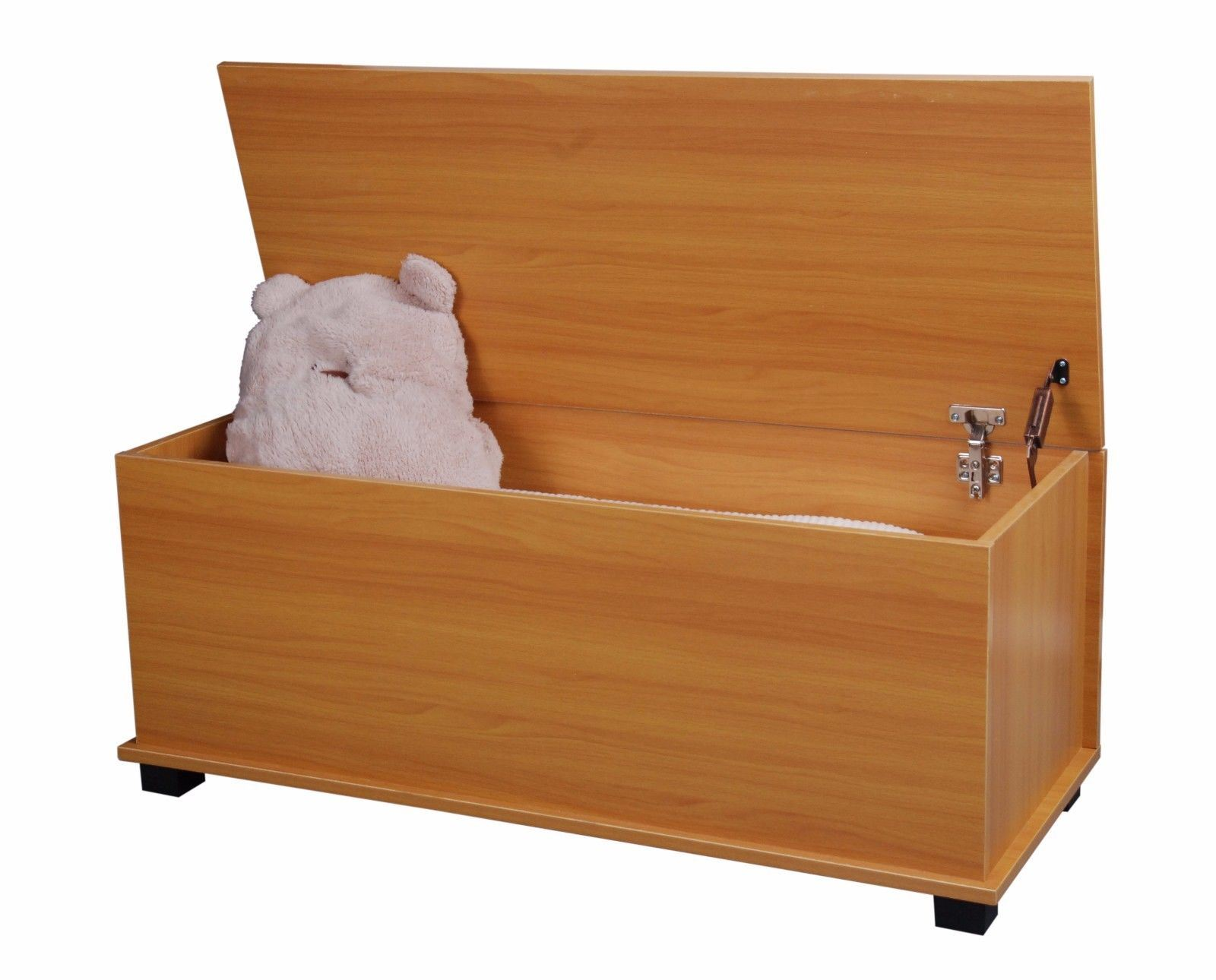 NEW BLEACH WOODEN OTTOMAN WOODEN TOY STORAGE CHEST TRUNK BOX WITH HINGES  sc 1 st  eBay & NEW BLEACH WOODEN OTTOMAN WOODEN TOY STORAGE CHEST TRUNK BOX WITH ...