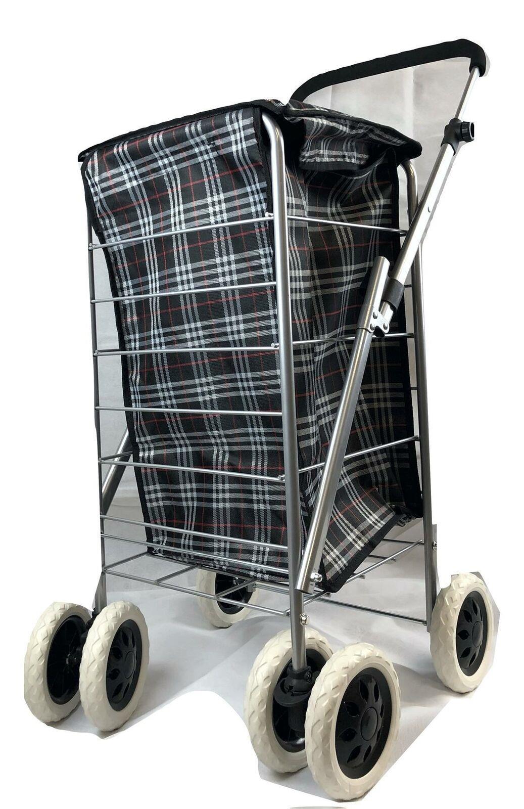 Léger Pliable 4 ou 6 roues stockage Shopping Trolley Amovible Sac
