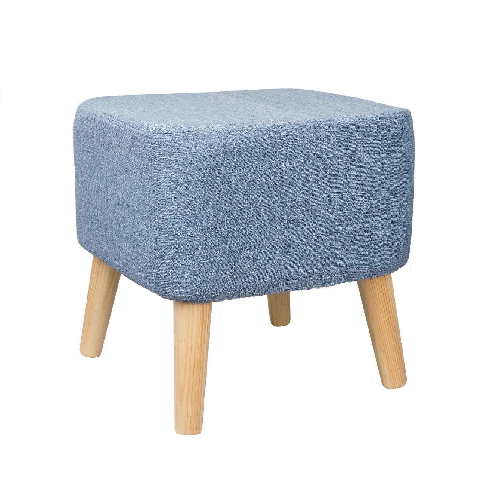 Modern Coloured Upholstered Footstool Ottoman Pouffe Stool