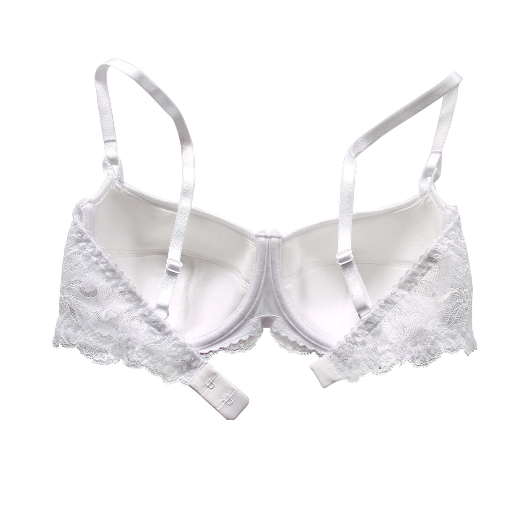 Balconette-Demi-Underwire-Lightly-Padded-Sexy-Comfortable-Lace-Half-Cup-Bra thumbnail 30
