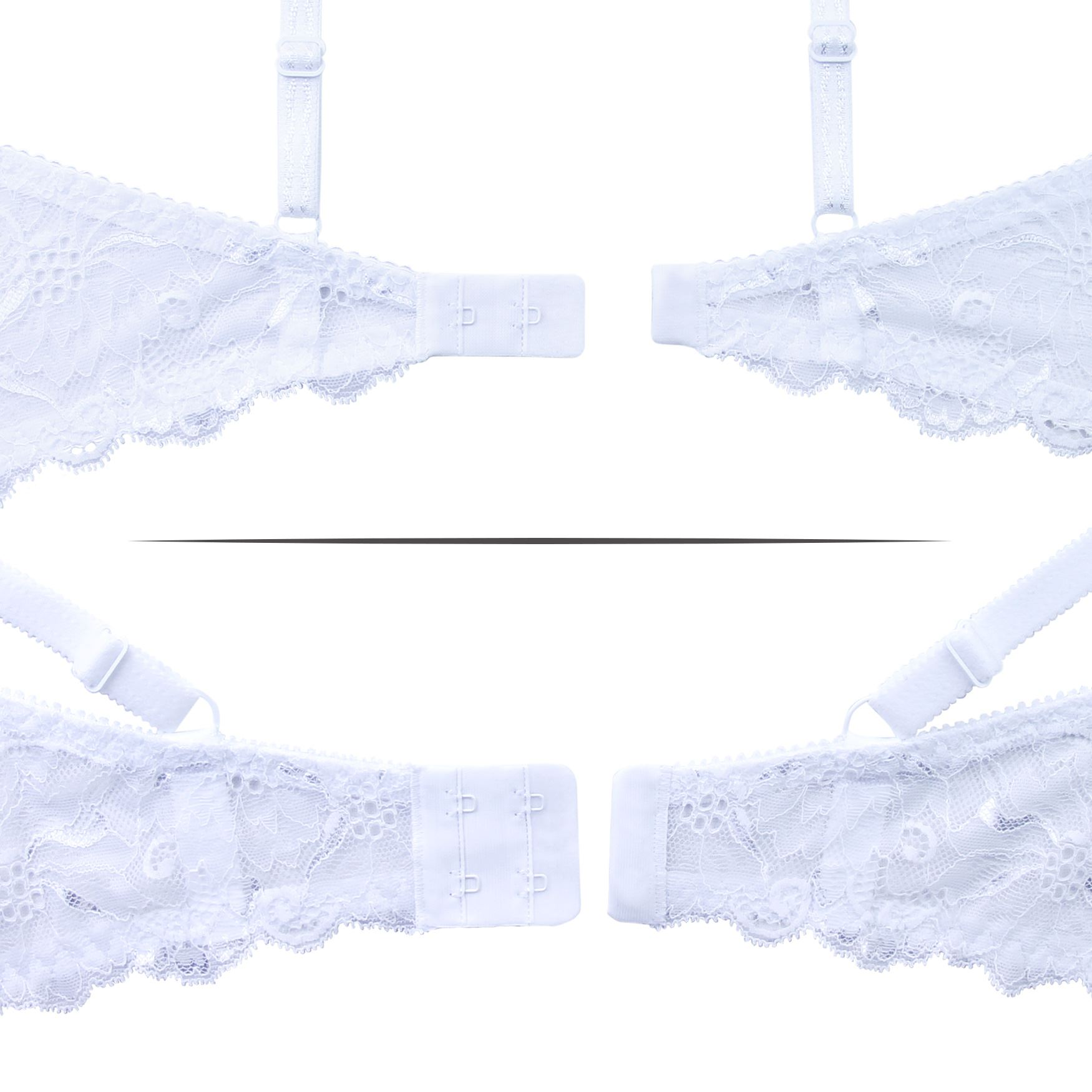 Balconette-Demi-Underwire-Lightly-Padded-Sexy-Comfortable-Lace-Half-Cup-Bra thumbnail 31