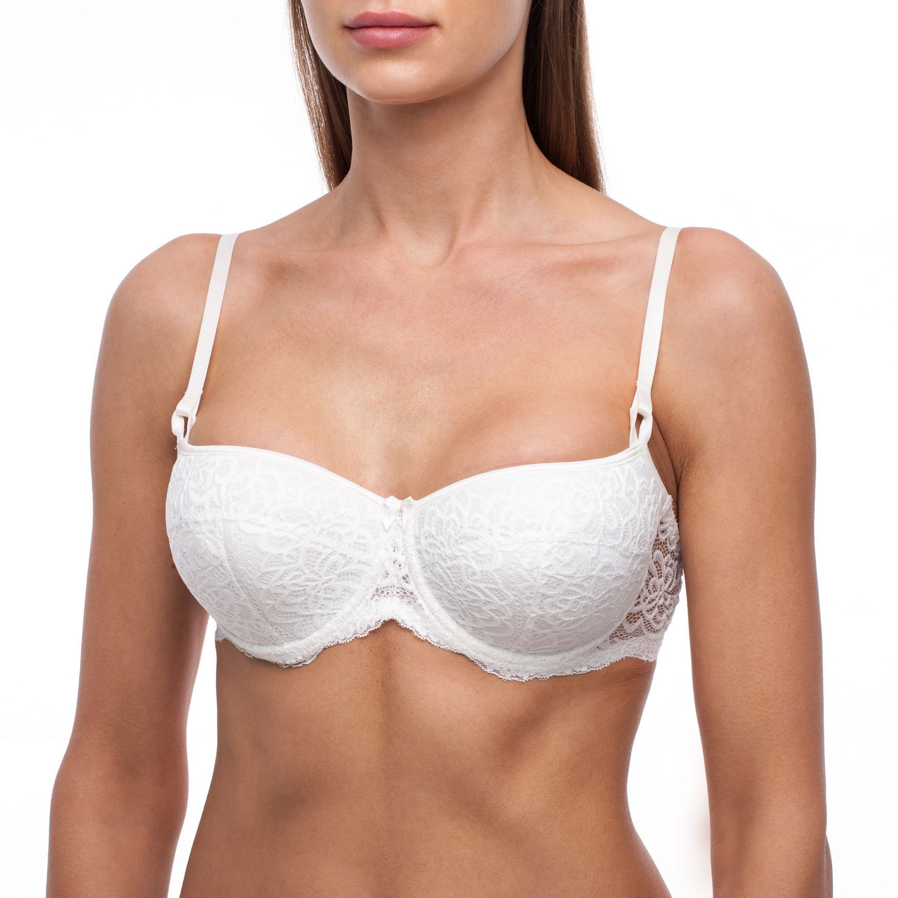 Balconette-Demi-Underwire-Lightly-Padded-Sexy-Comfortable-Lace-Half-Cup-Bra thumbnail 20